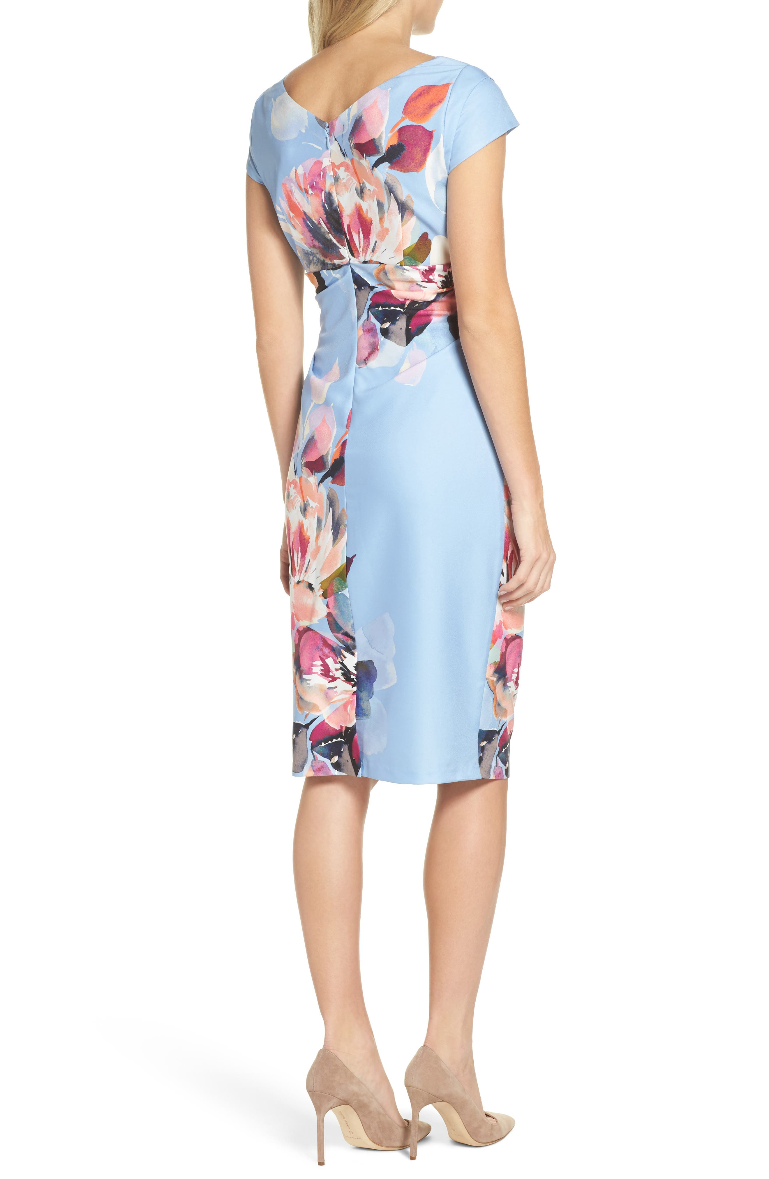 Alternate Image 2  - Adrianna Papell Magnolia Cowl Neck Sheath Dress (Regular & Petite)