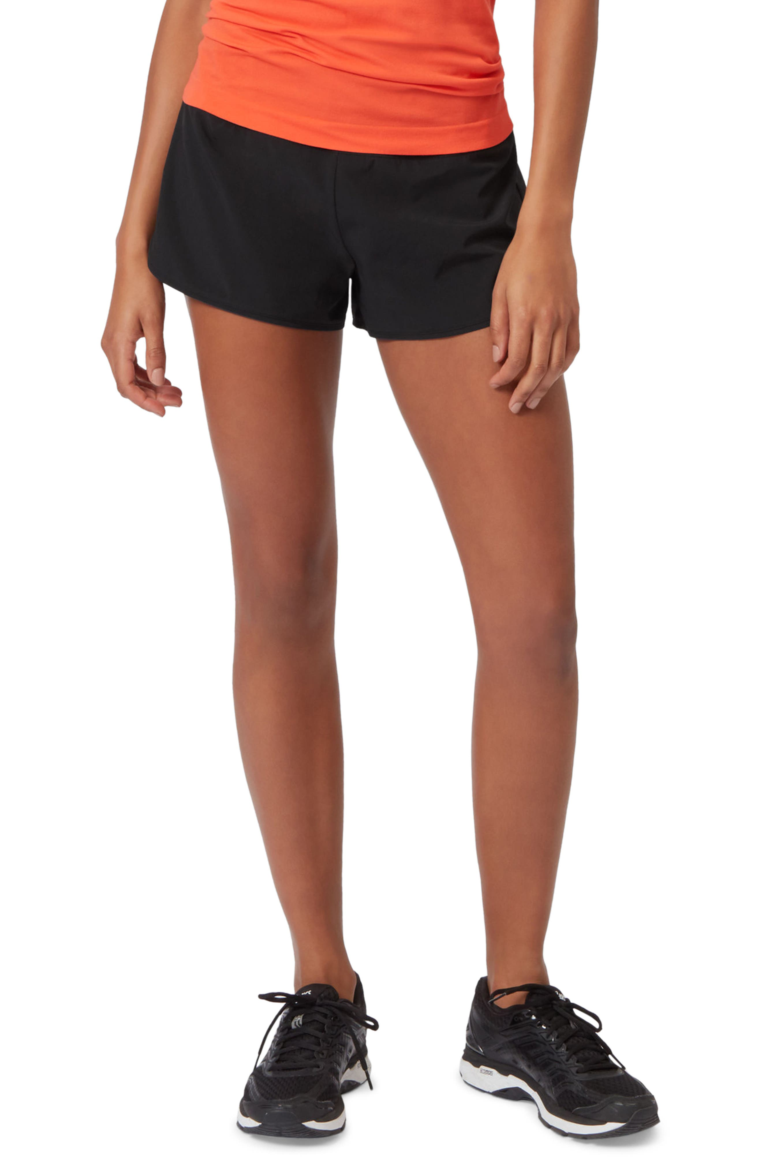 Time Trail Running Shorts,                         Main,                         color, Black