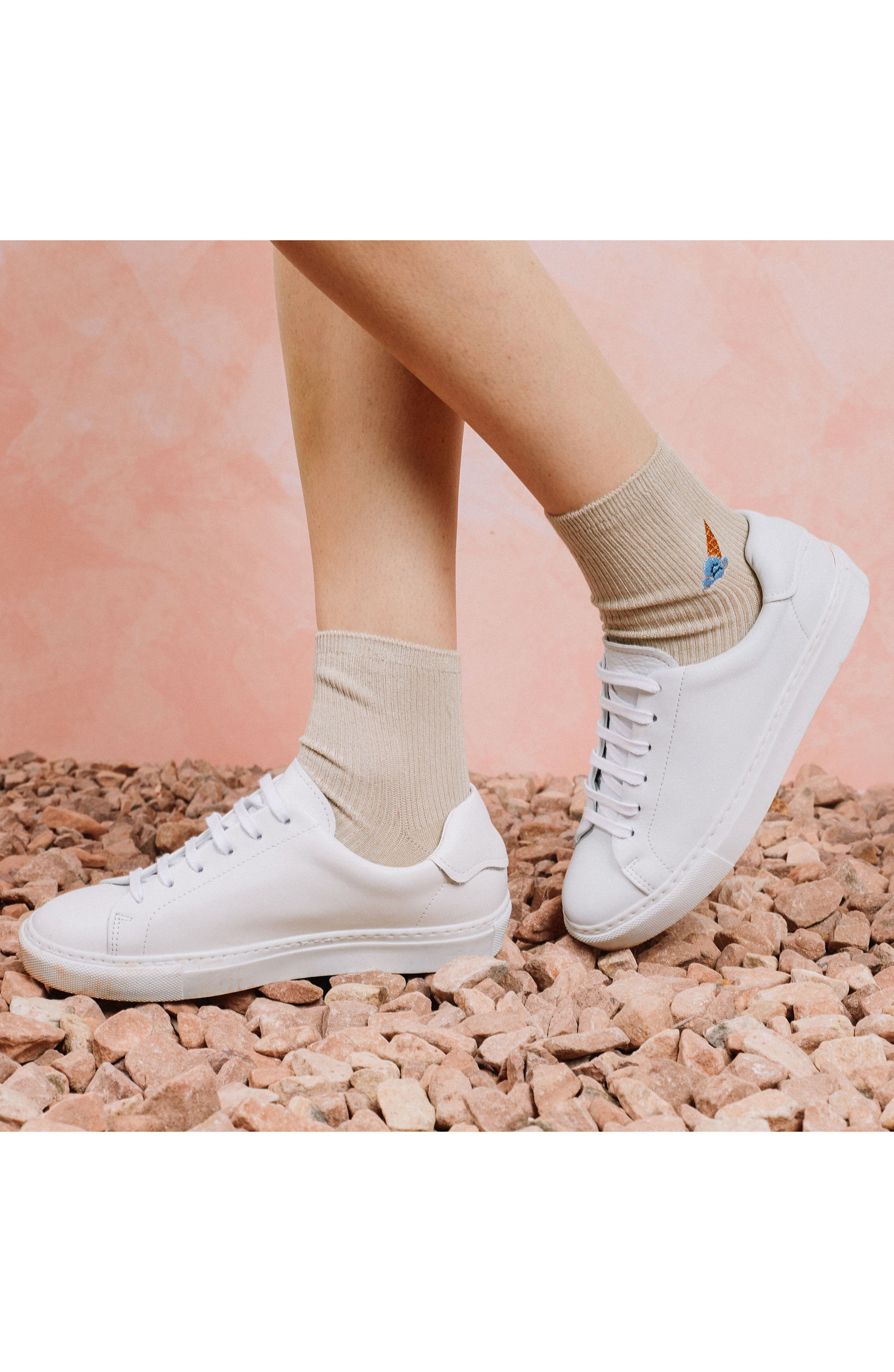 Coney Ankle Socks,                             Alternate thumbnail 4, color,                             Oatmeal