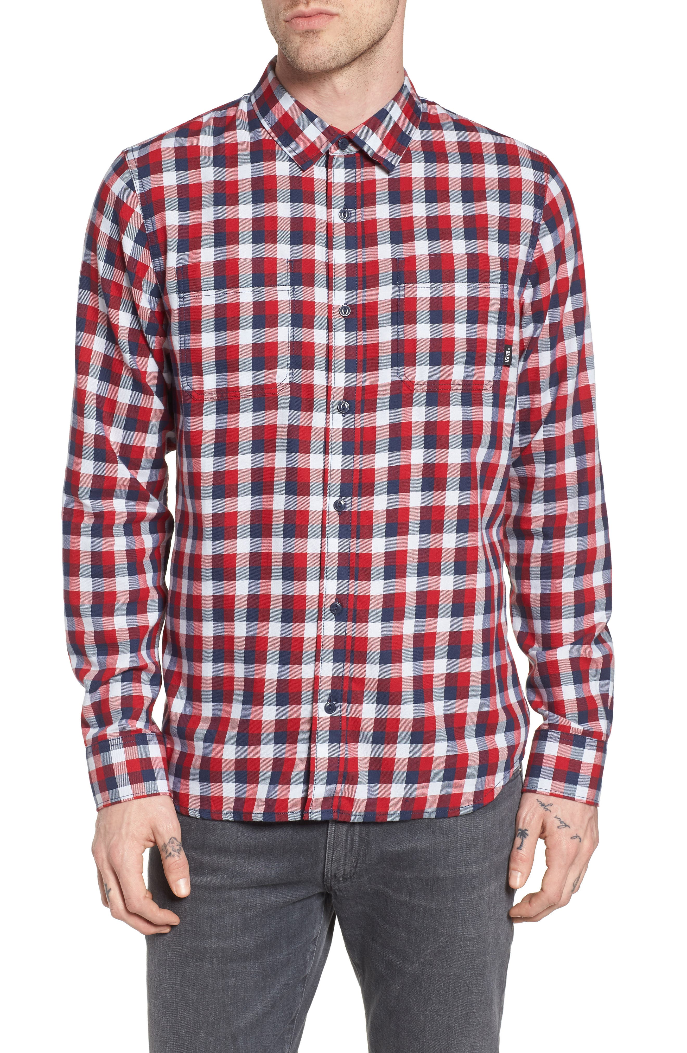Alternate Image 1 Selected - Vans Alameda II Plaid Flannel Shirt