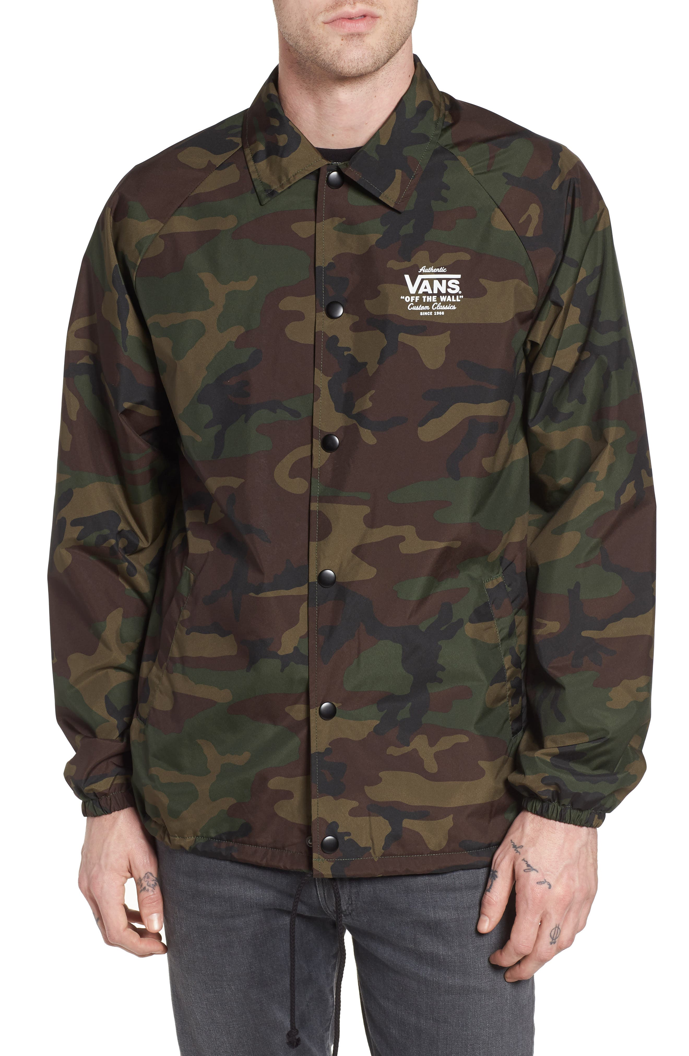 Torrey Water Resistant Coach's Jacket,                             Main thumbnail 1, color,                             Camo