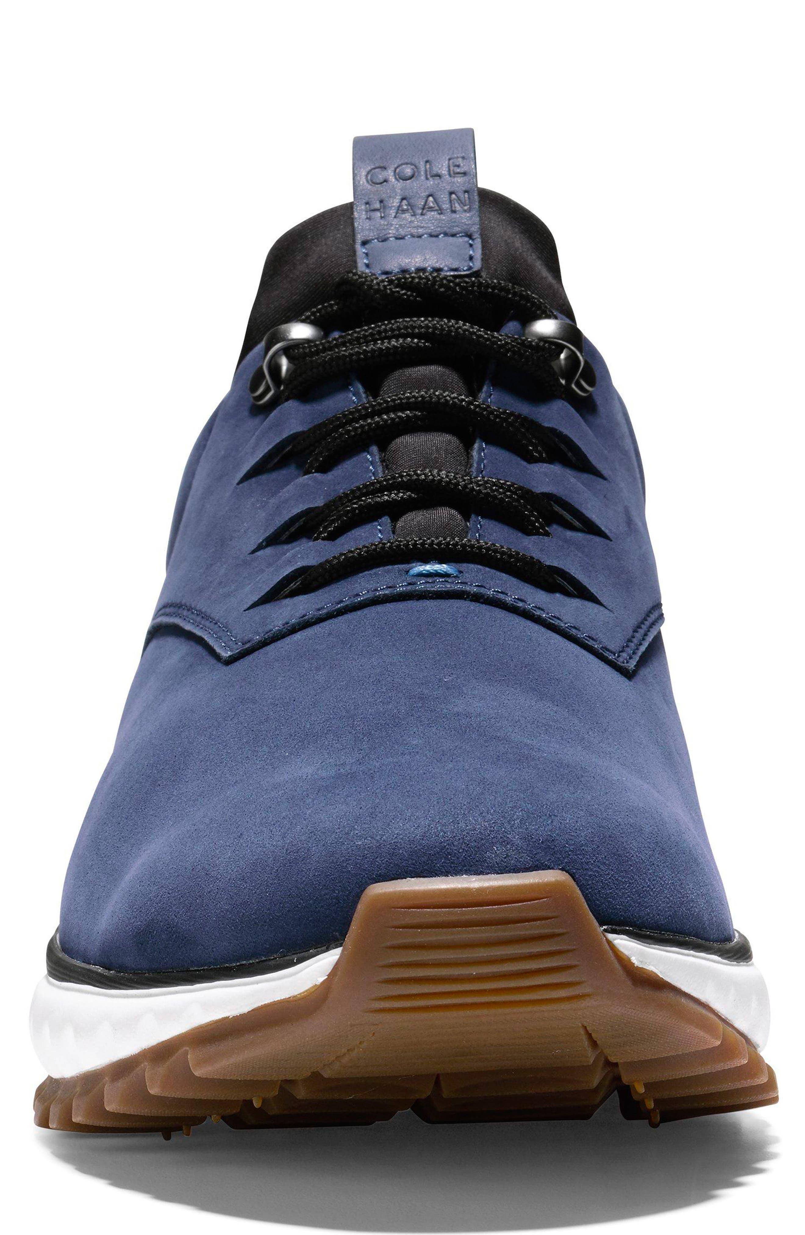 GrandExpløre All Terrain Waterproof Sneaker,                             Alternate thumbnail 4, color,                             Marine Blue Nubuck
