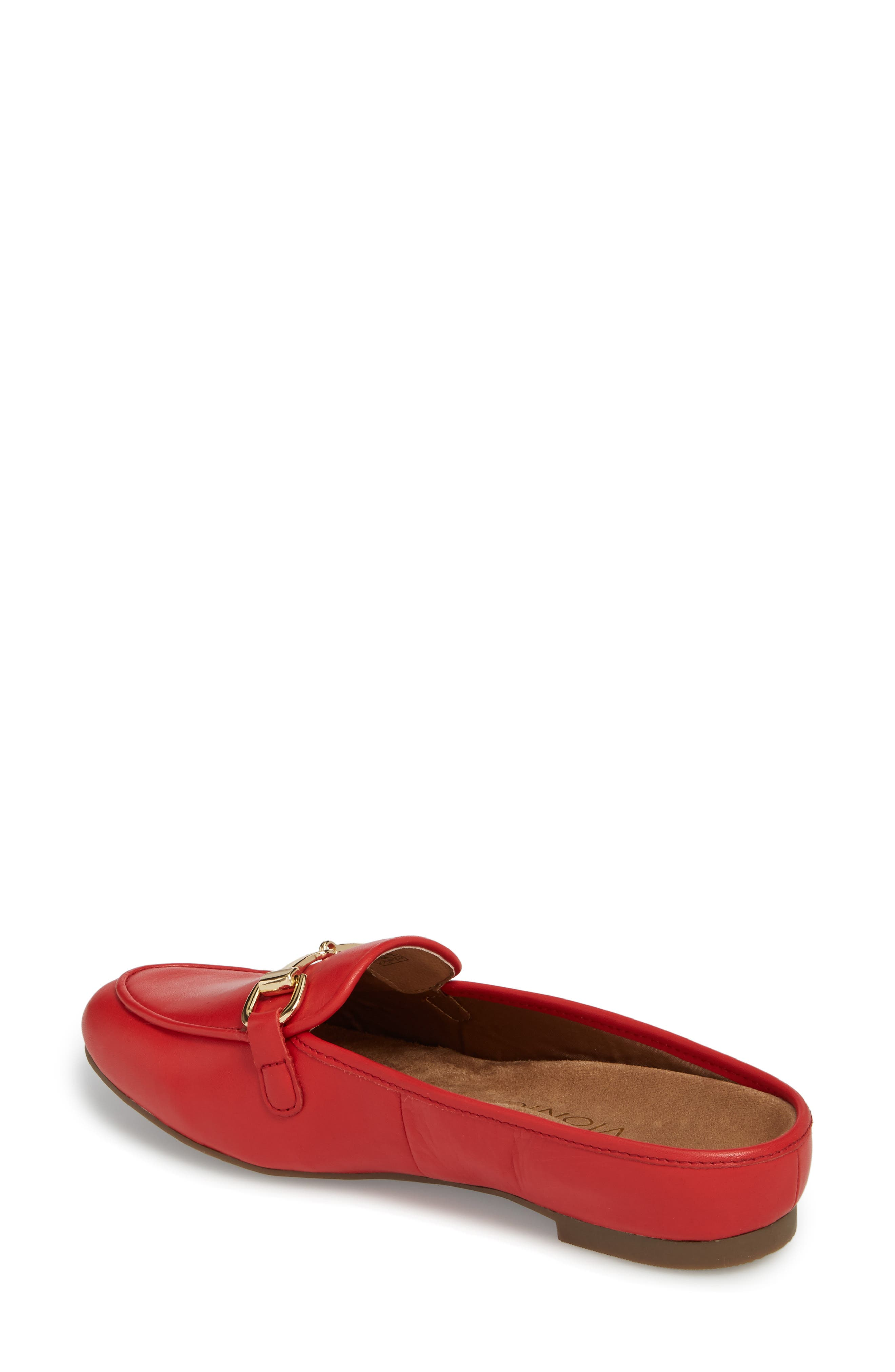 Adeline Mule,                             Alternate thumbnail 2, color,                             Red Leather