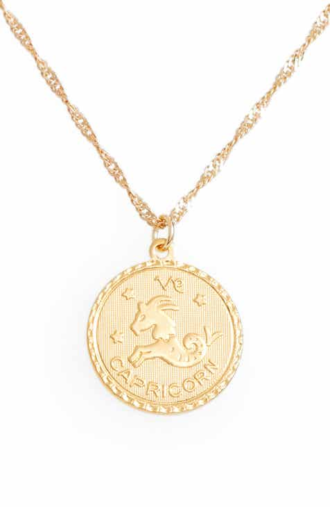 jewelry product o capricorn shea gold pendants pendant pedant