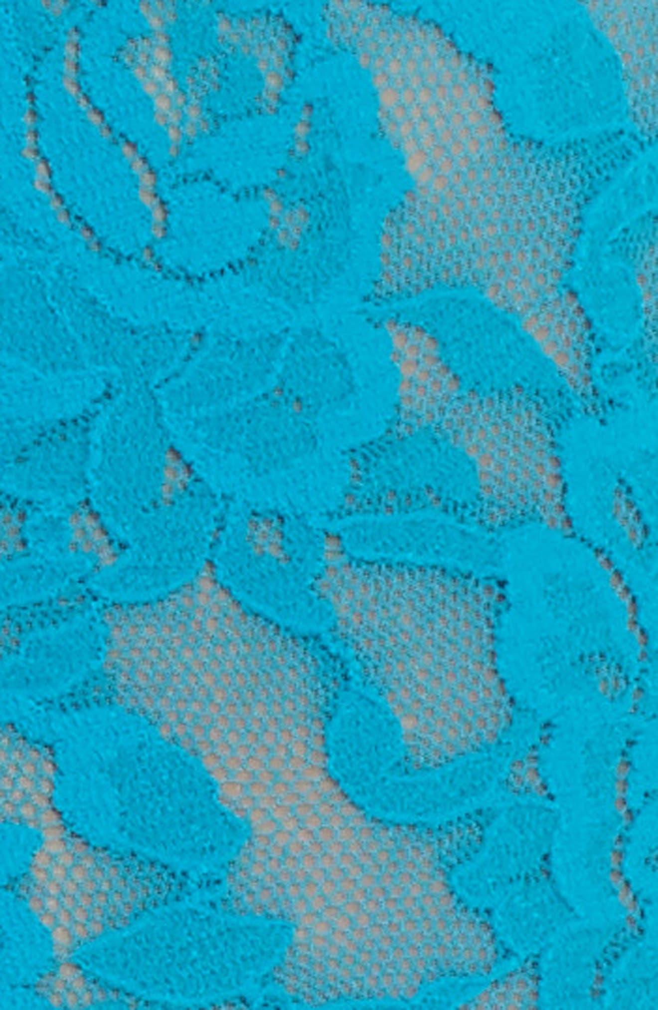 Stretch Lace Boyshorts,                             Alternate thumbnail 6, color,                             Maui Blue