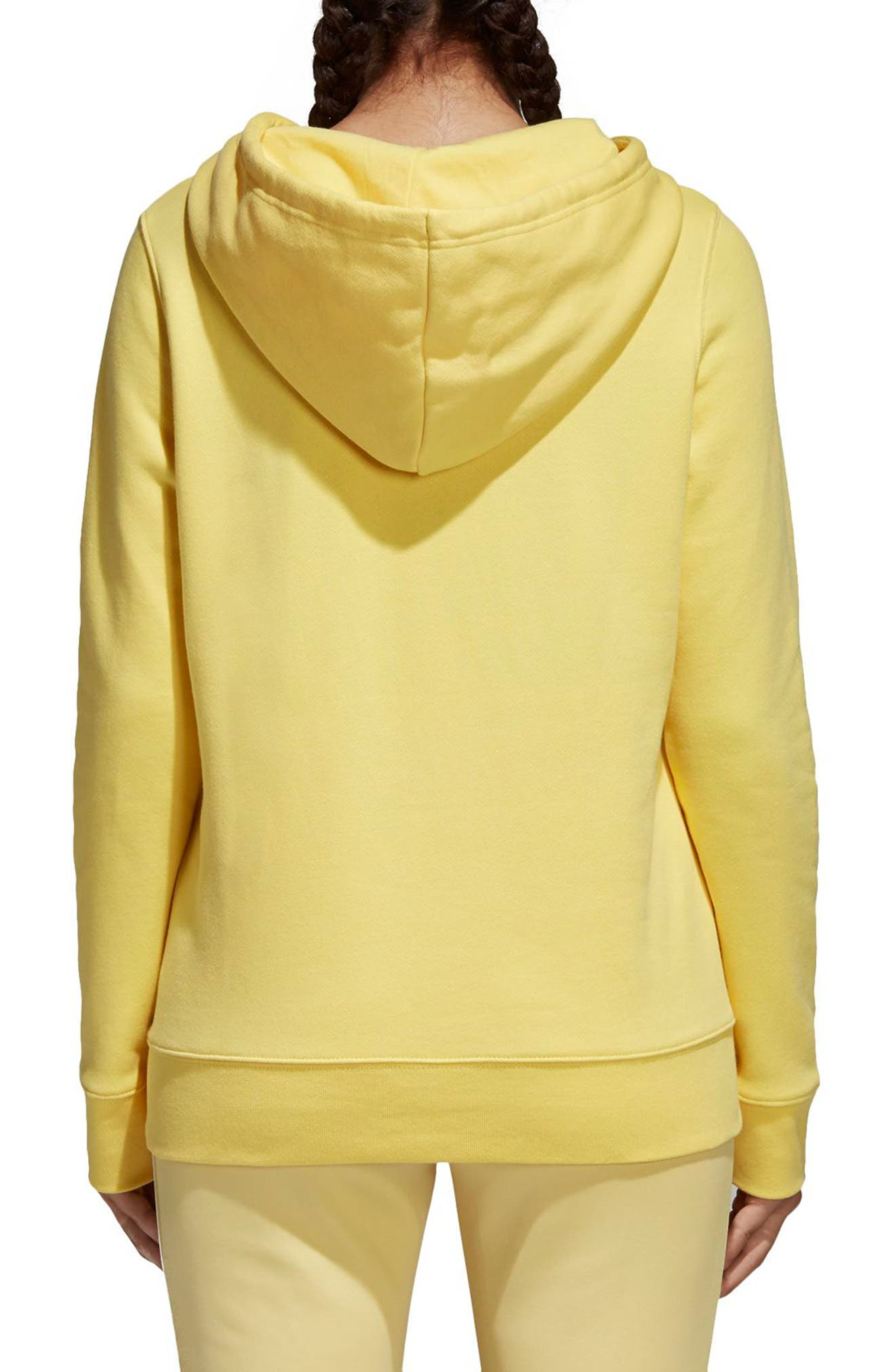 Originals Trefoil Hoodie,                             Alternate thumbnail 2, color,                             Intense Lemon