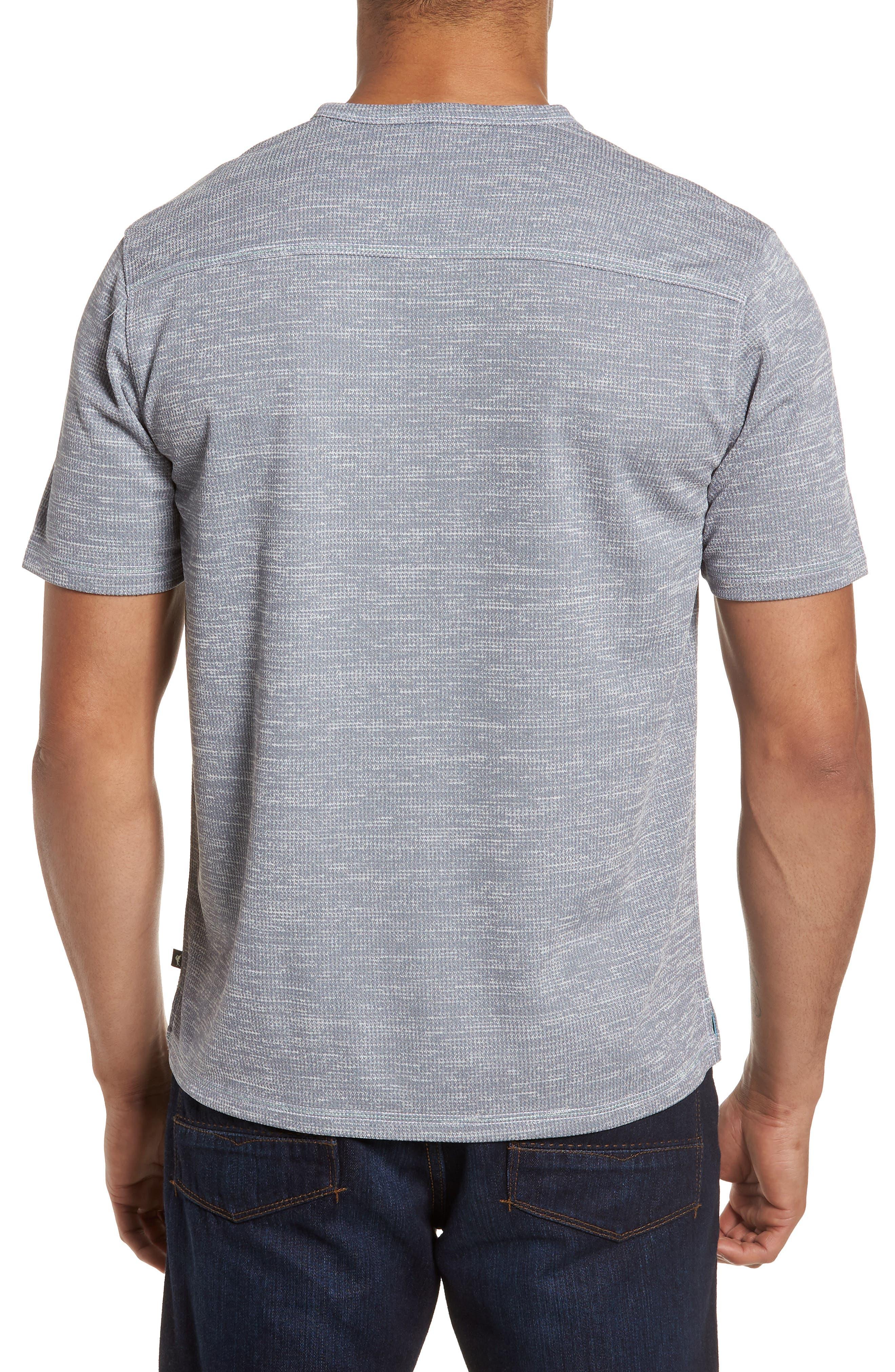 Sand Key V-Neck T-Shirt,                             Alternate thumbnail 3, color,                             Carbon Grey