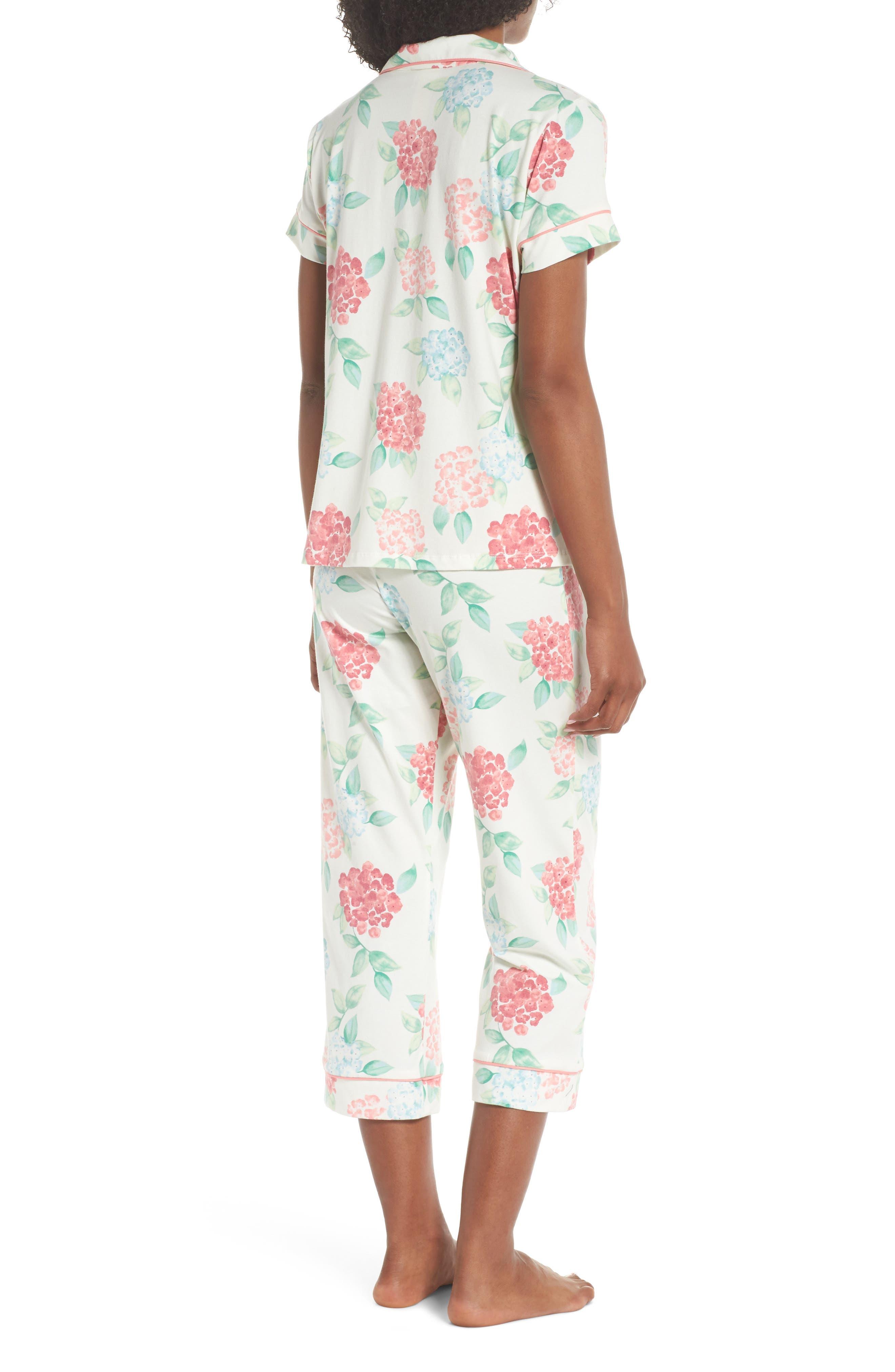 Crop Pajamas,                             Alternate thumbnail 2, color,                             Hydrangea