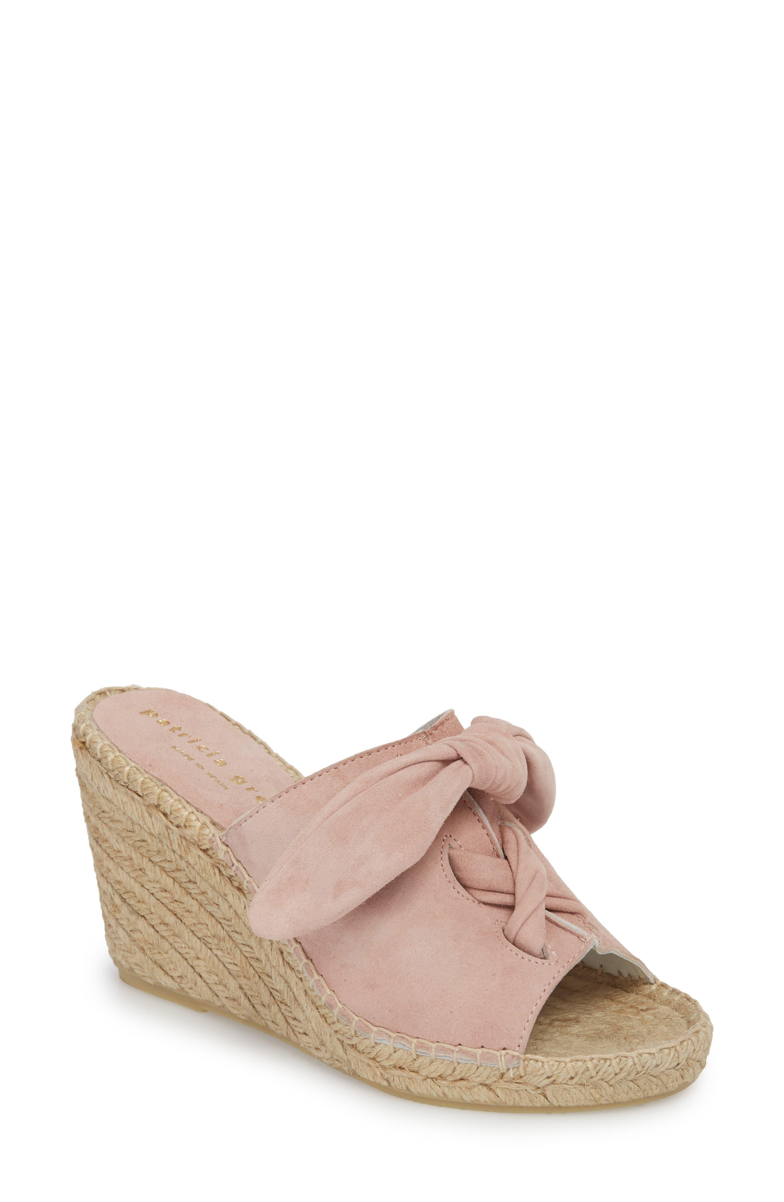 Flirt Espadrille Wedge Sandal,                         Main,                         color, Pink Suede