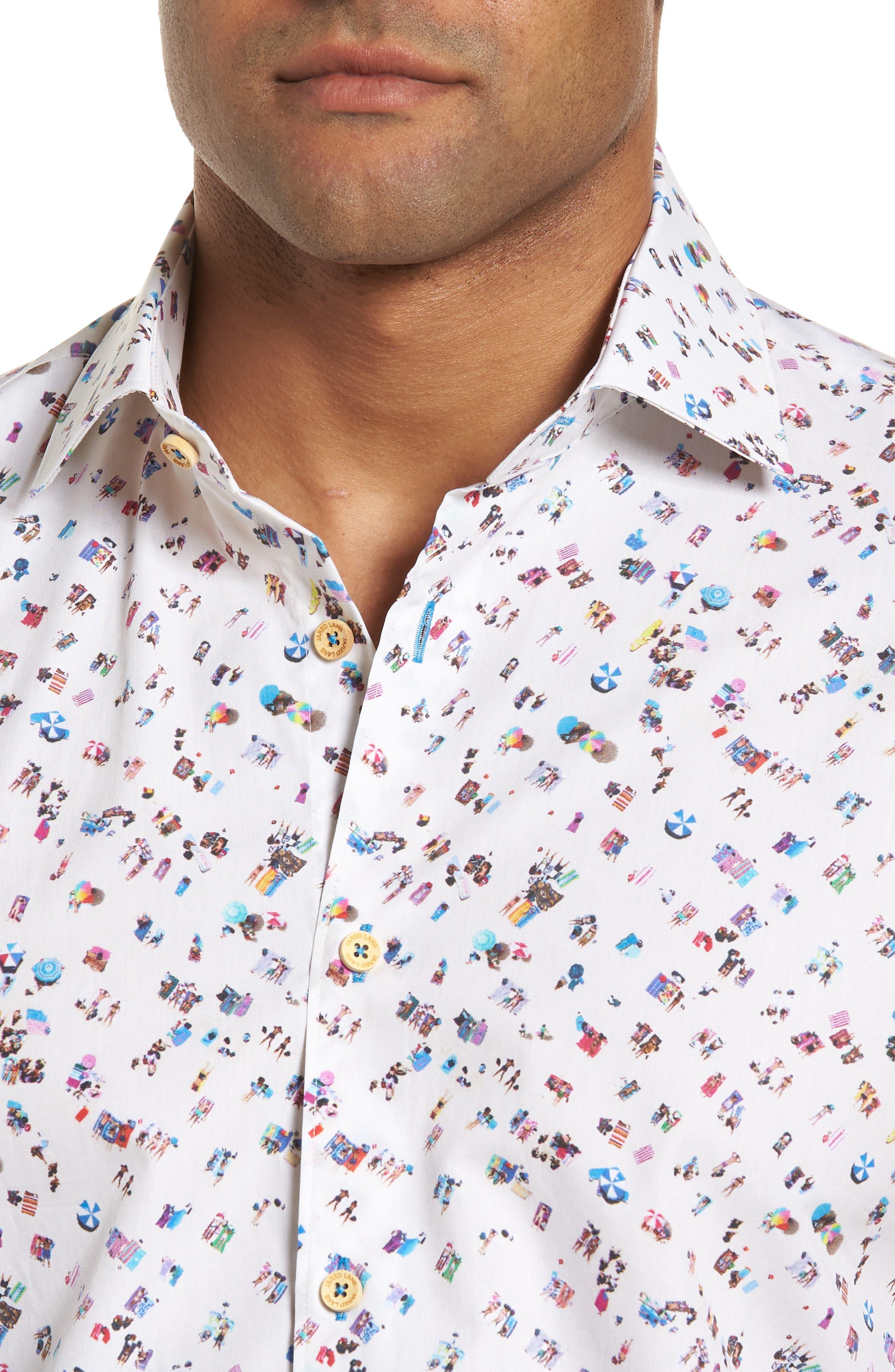 Alternate Image 4  - Jared Lang Slim Fit Beach Sport Shirt