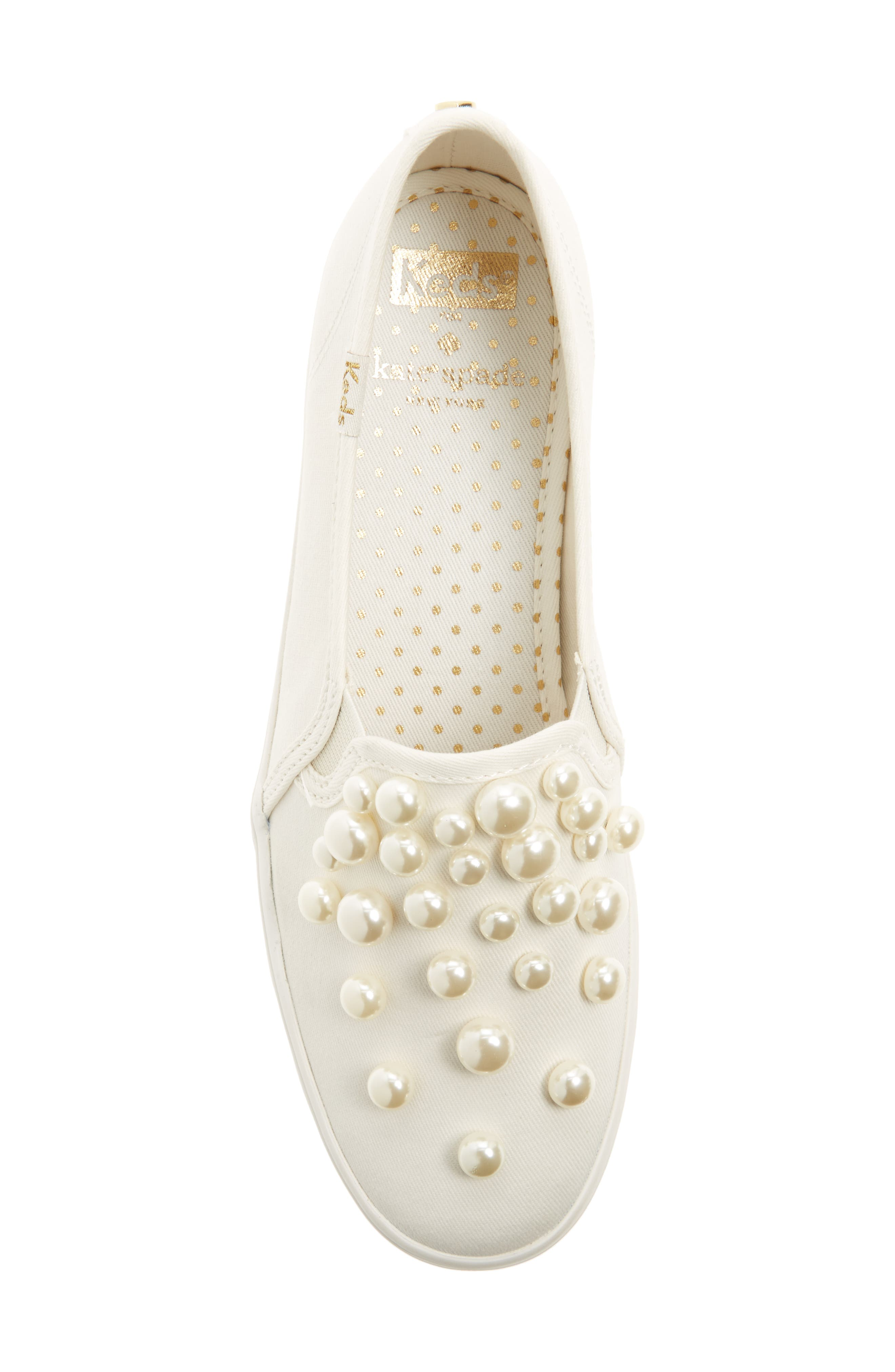 triple decker embellished slip-on sneaker,                             Alternate thumbnail 5, color,                             Cream