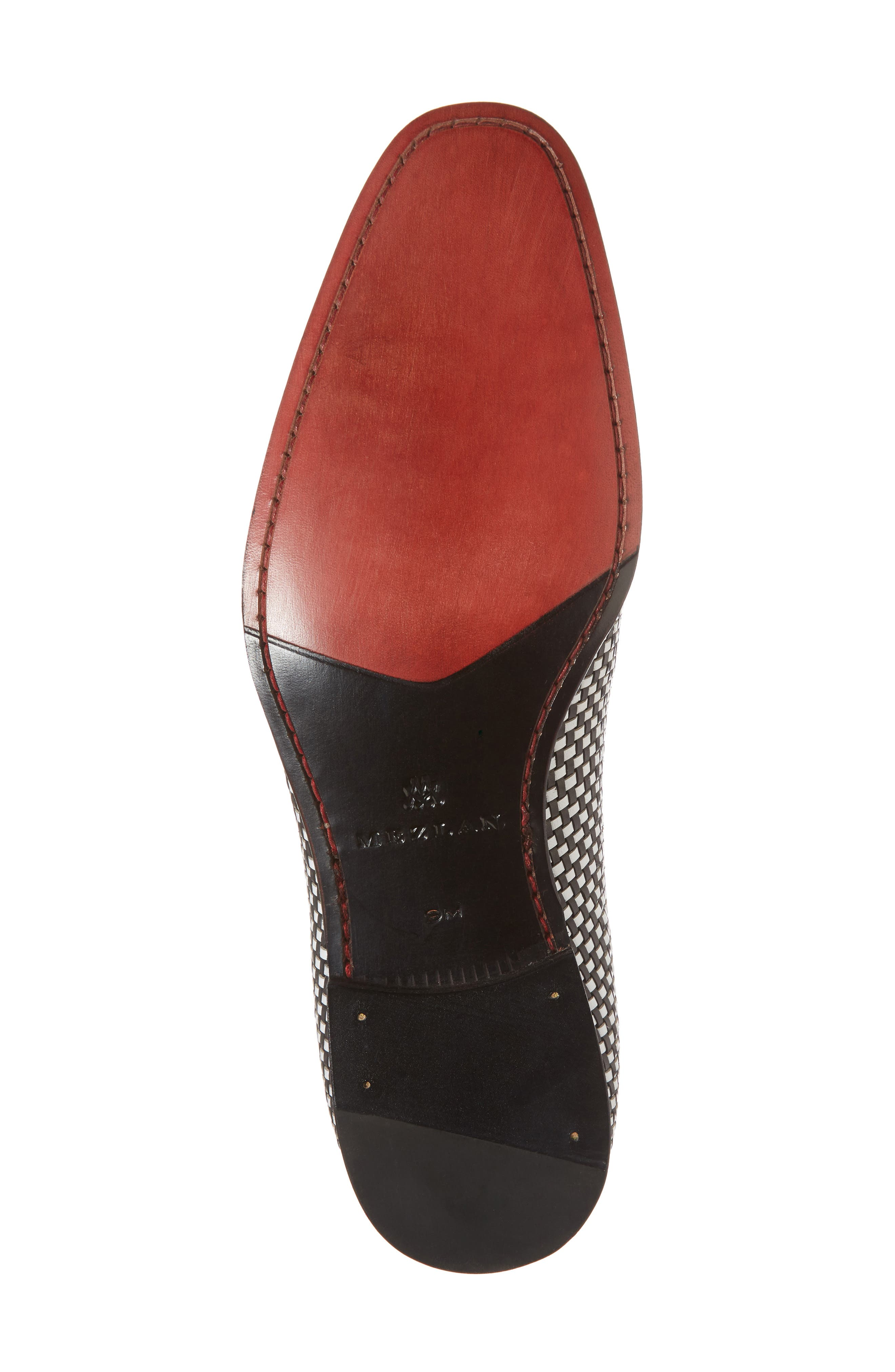 Egeo Tassel Loafer,                             Alternate thumbnail 6, color,                             Black/ White Leather