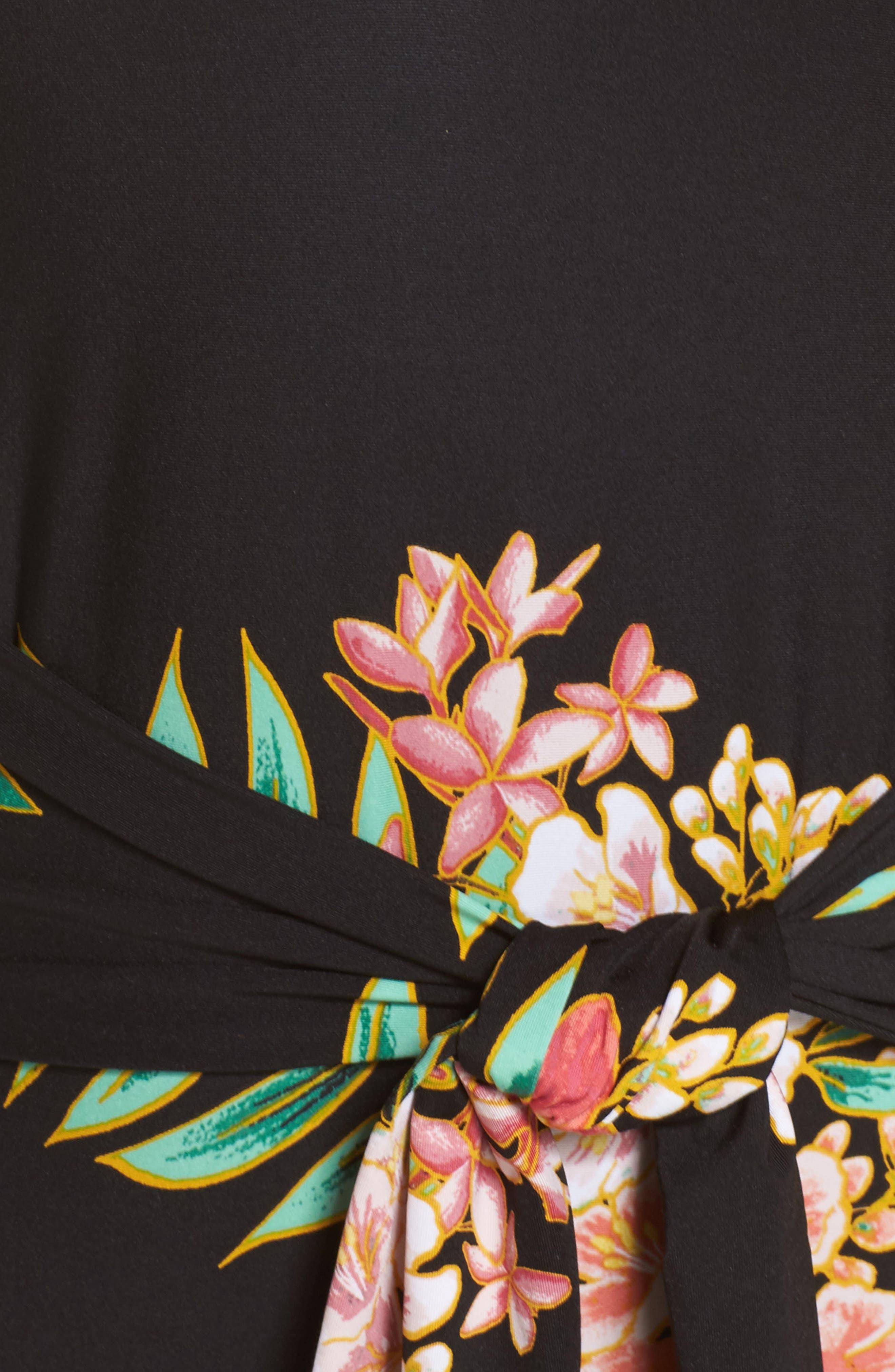 Tropicali One-Piece Swimsuit,                             Alternate thumbnail 5, color,                             Black Multi