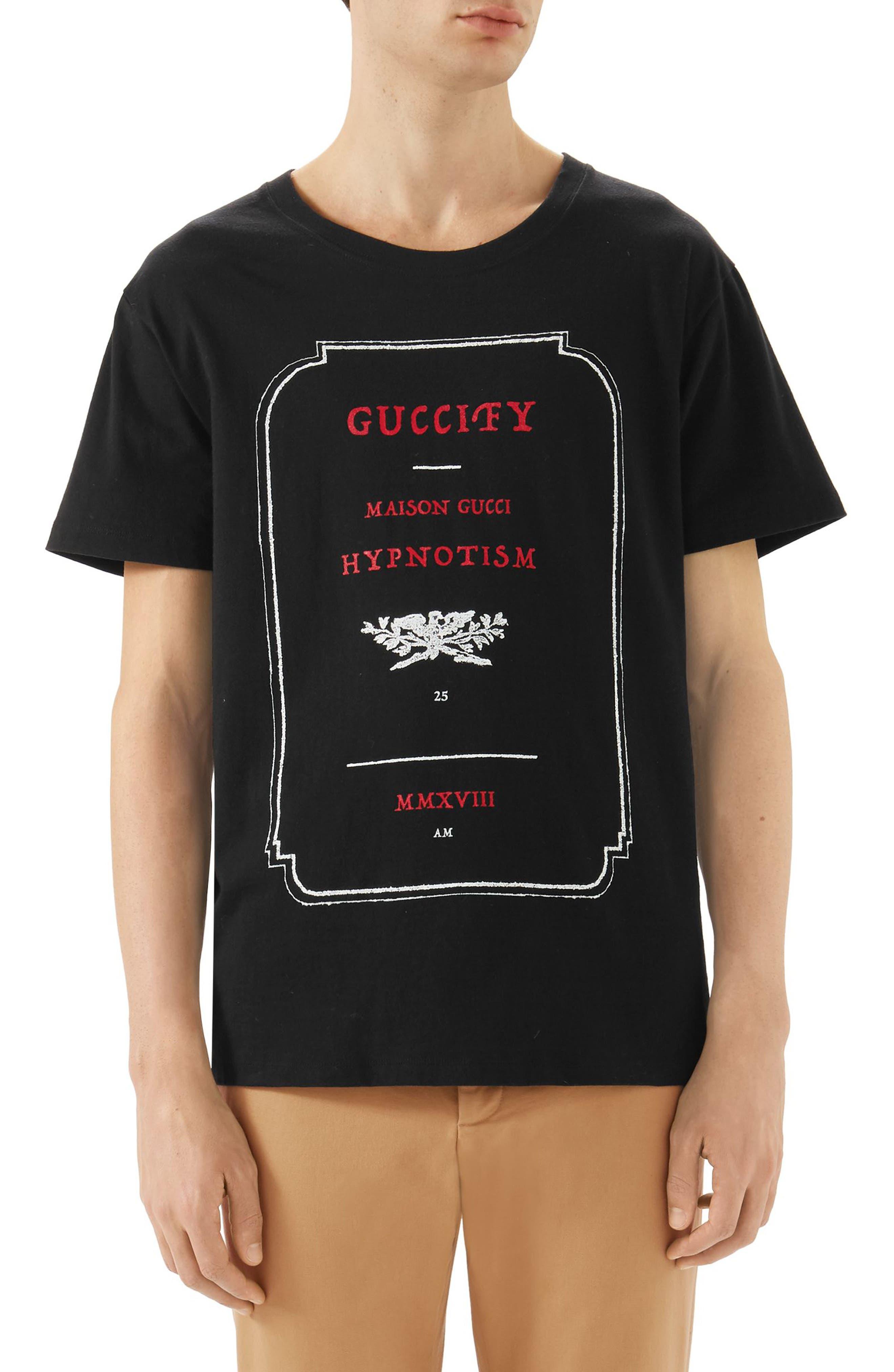 Invitation Graphic T-Shirt,                             Main thumbnail 1, color,                             Black Multi