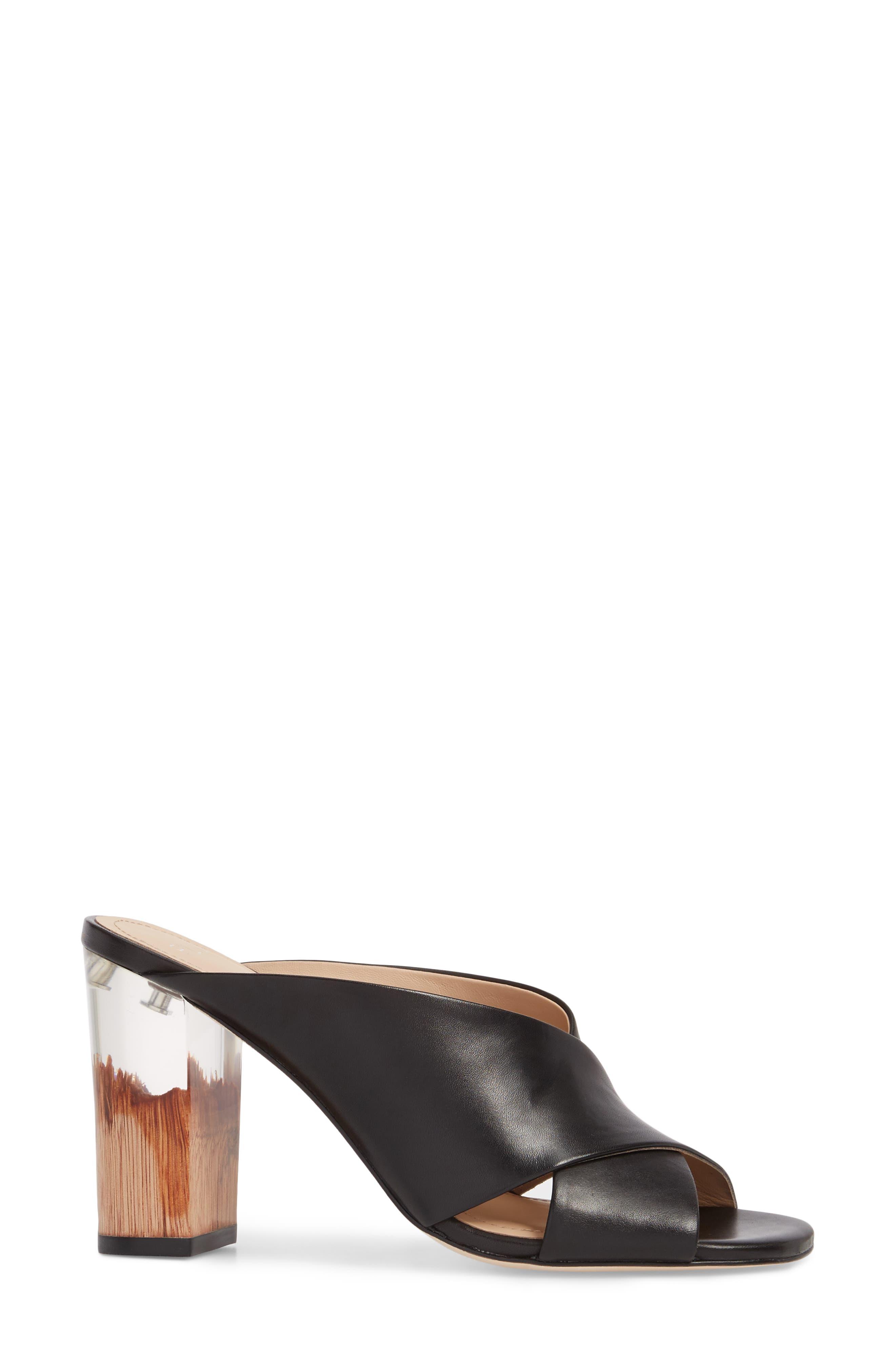 Harley Sandal,                             Alternate thumbnail 3, color,                             Black Leather