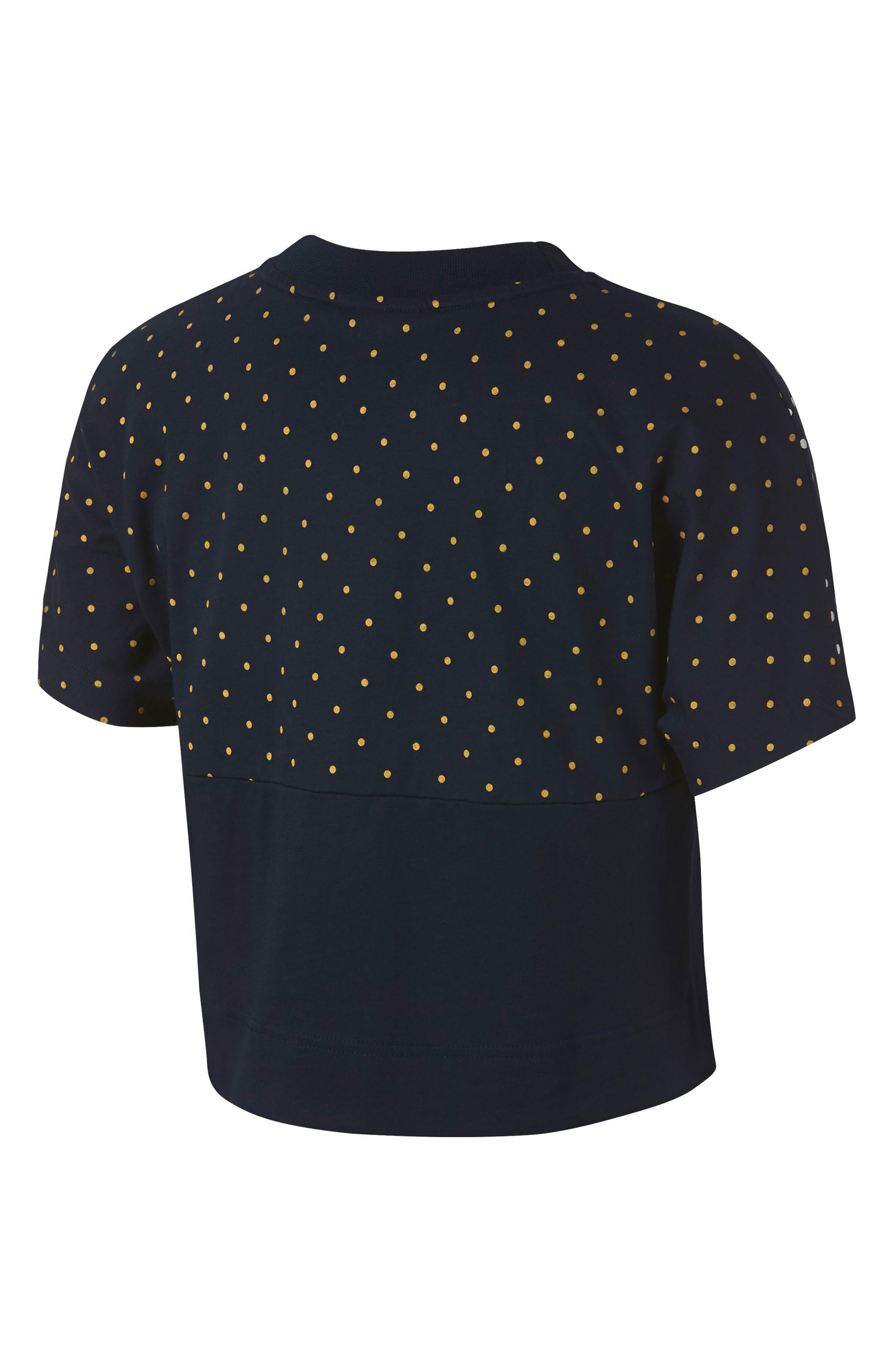 Womens Polka Dot Top Nordstrom Kate Embroidery Blouse In Blue Beatrice Clothing