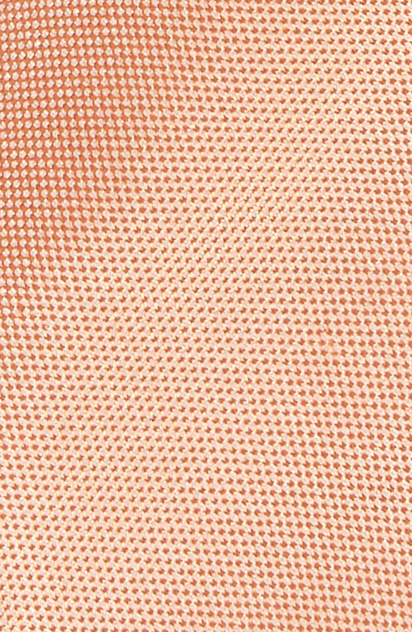 Natte Weave Silk Tie,                             Alternate thumbnail 2, color,                             Orange