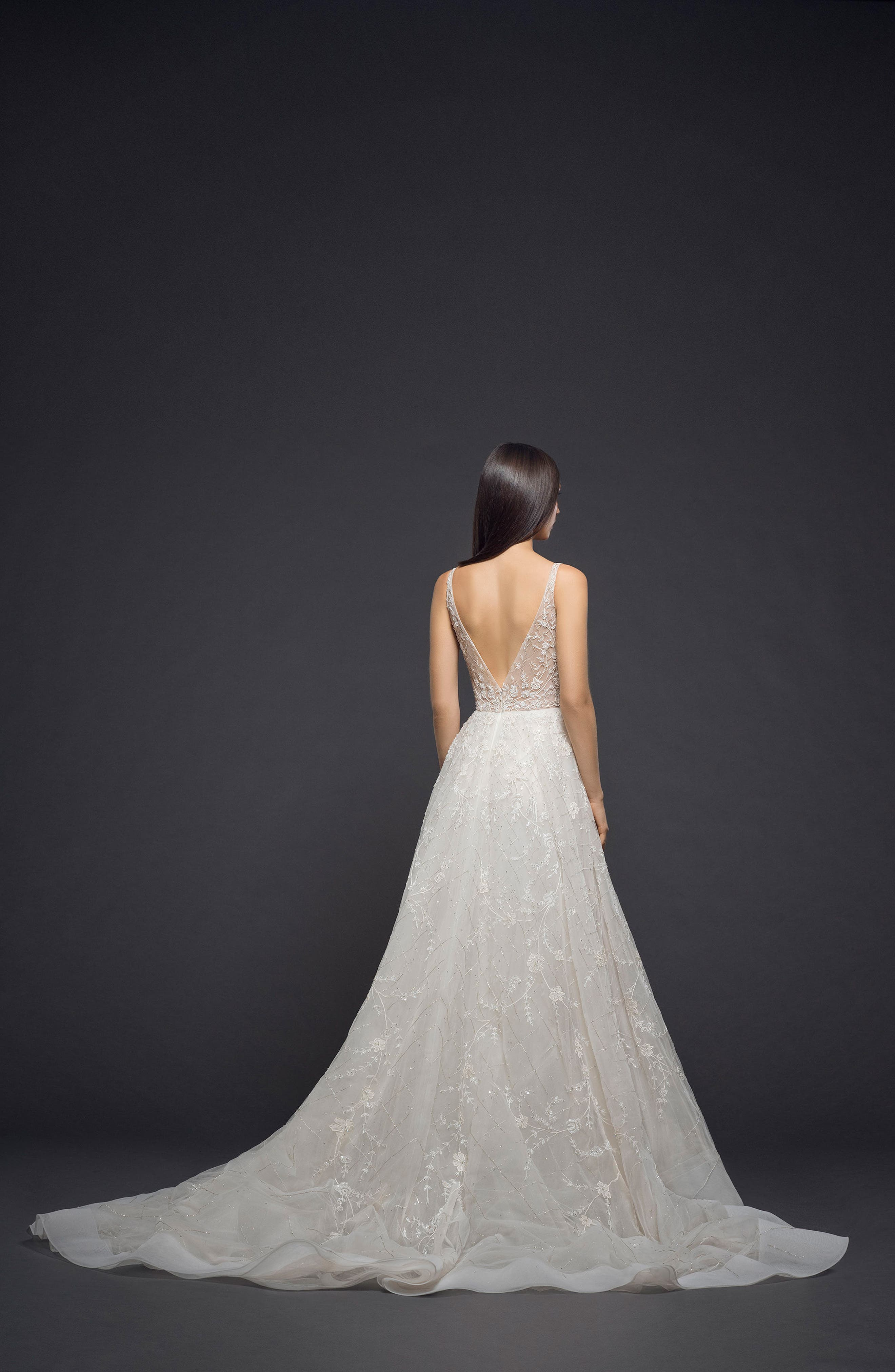 Embellished Organza Gown,                             Alternate thumbnail 2, color,                             Champagne Nude