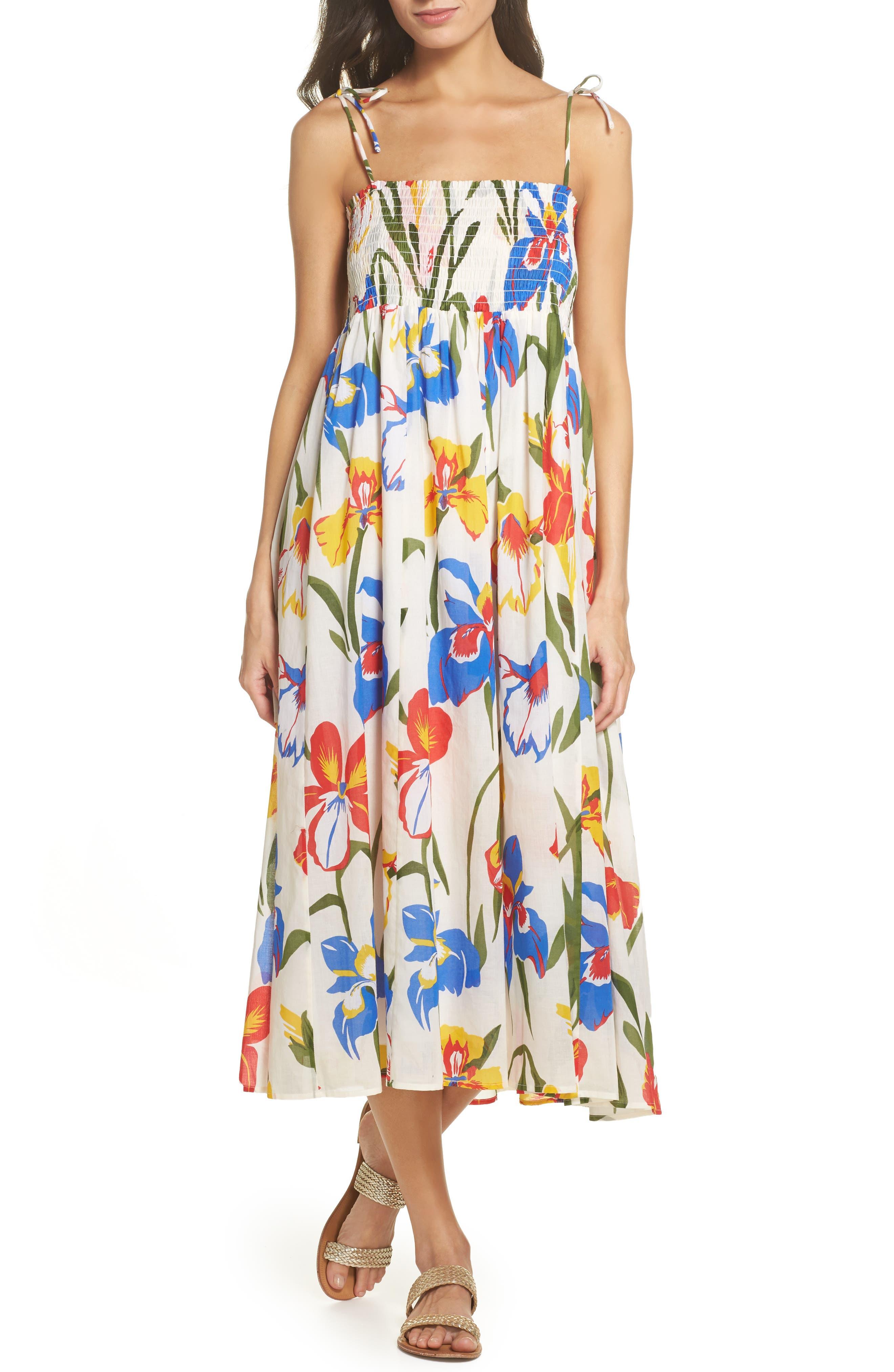 Painter Iris Convertible Cover-Up Dress,                         Main,                         color, Painted Iris