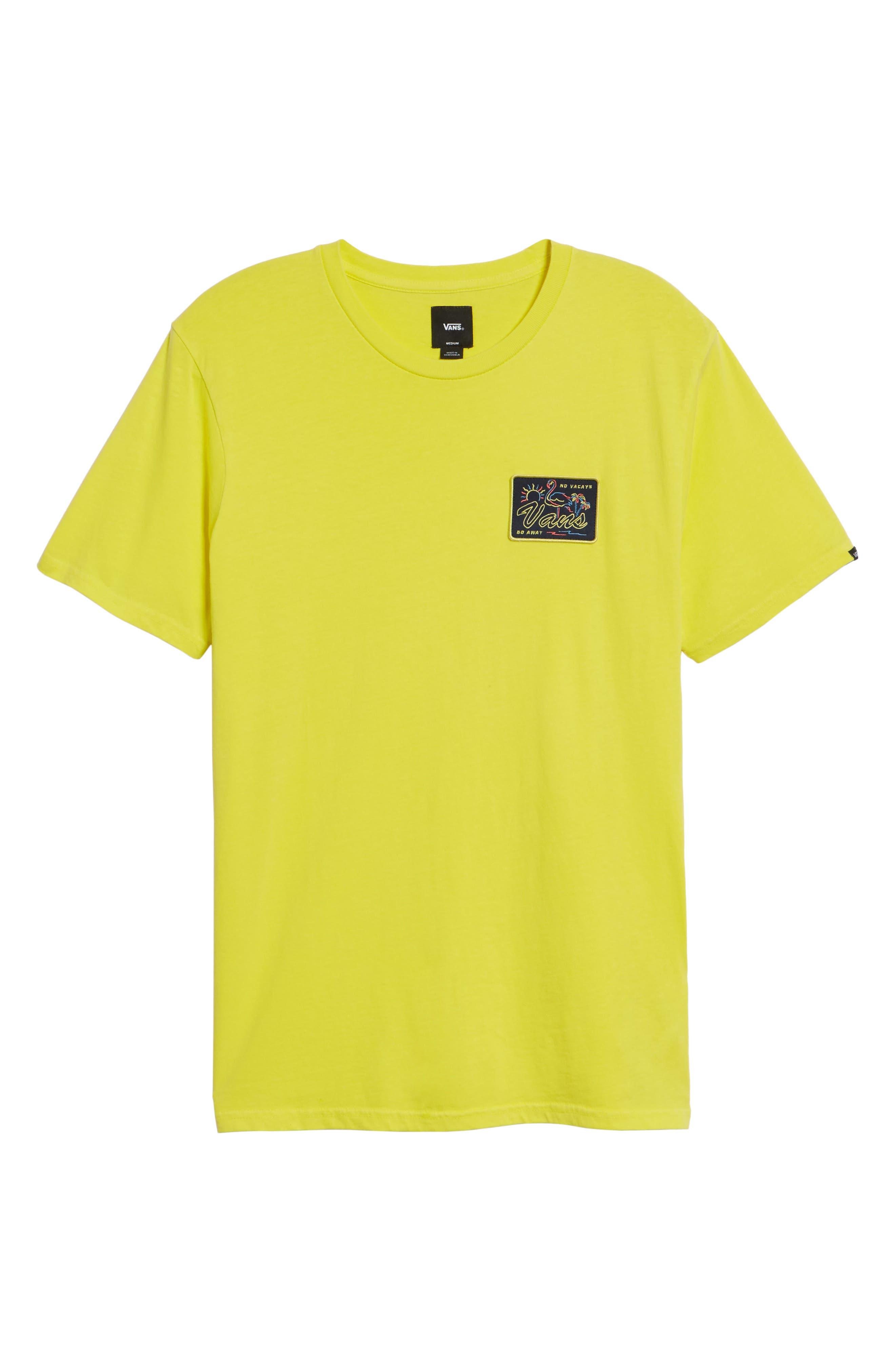 No Tourist Patch T-Shirt,                             Alternate thumbnail 6, color,                             Green Sheen