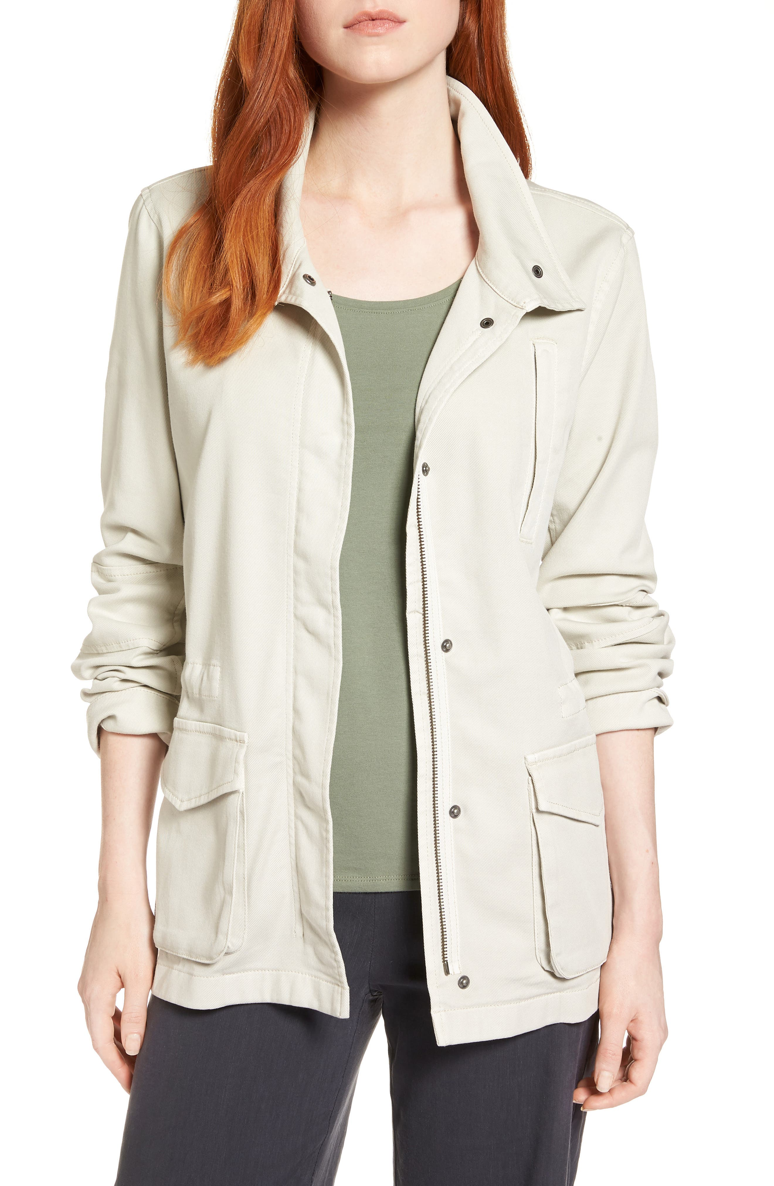 Modern Utility Jacket,                             Main thumbnail 1, color,                             Putty