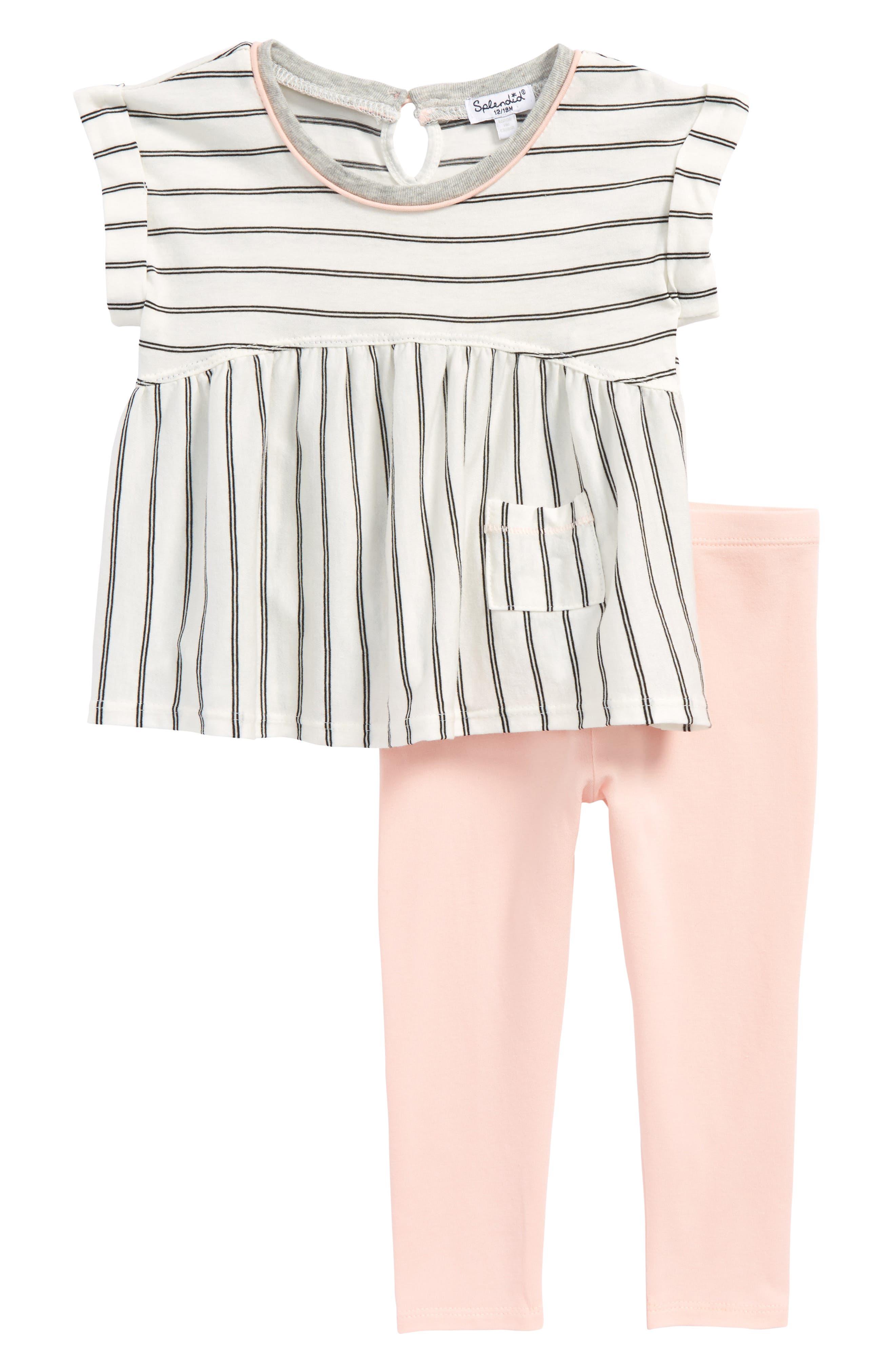 Splendid Stripe Top & Leggings Set (Baby Girls)