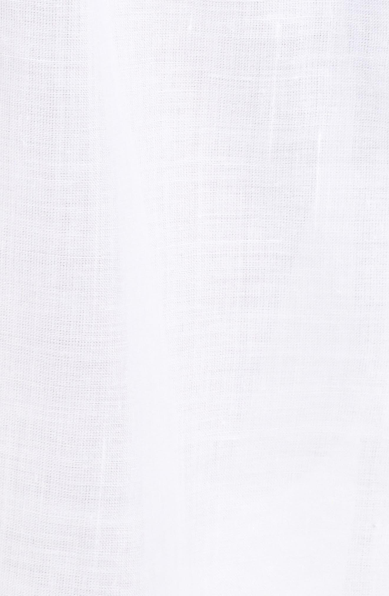 Tria Linen Shirtdress,                             Alternate thumbnail 5, color,                             White