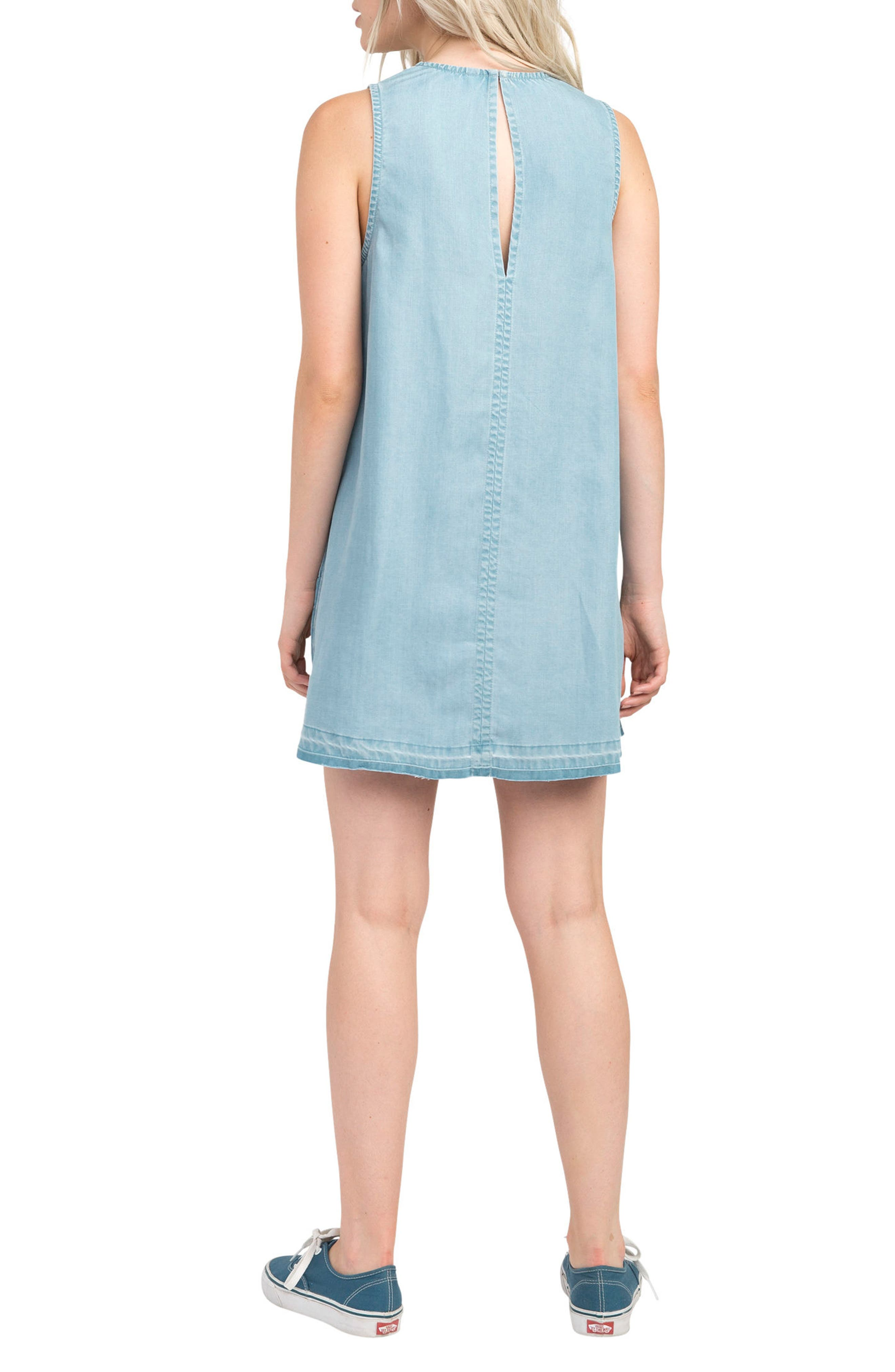 Release Chambray Shift Dress,                             Alternate thumbnail 3, color,                             Chambray