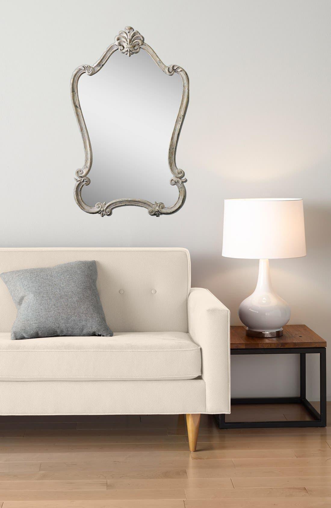 Alternate Image 2  - Uttermost 'Walton Hall' Antique White Vanity Mirror