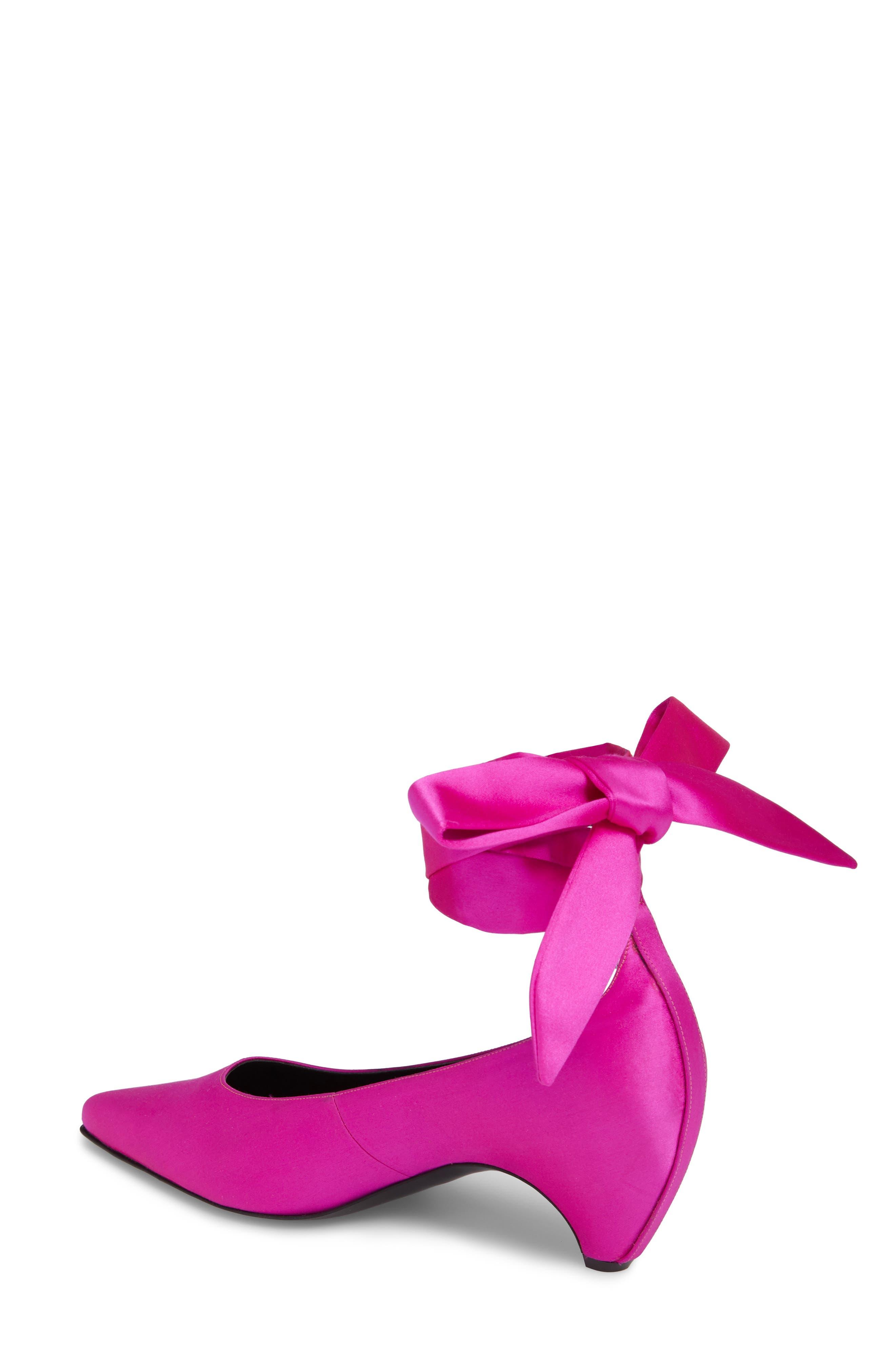 Ankle Wrap Pump,                             Alternate thumbnail 2, color,                             Pink