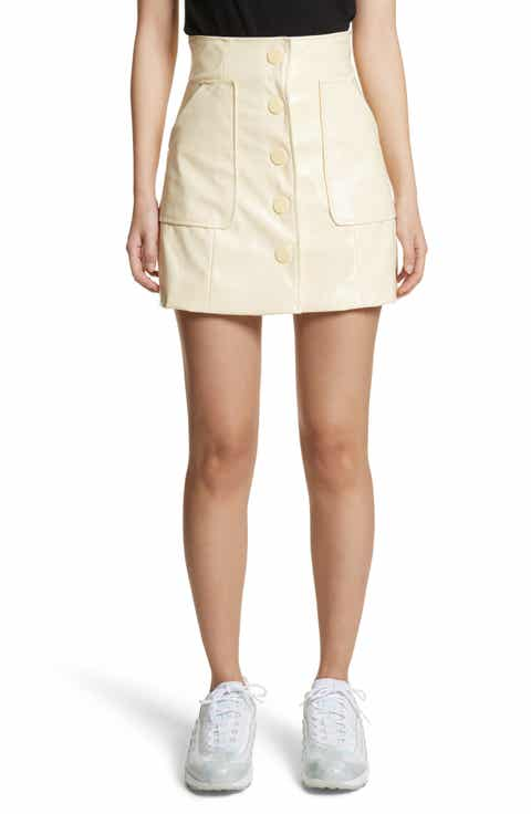 GANNI Monterey Faux Patent Miniskirt
