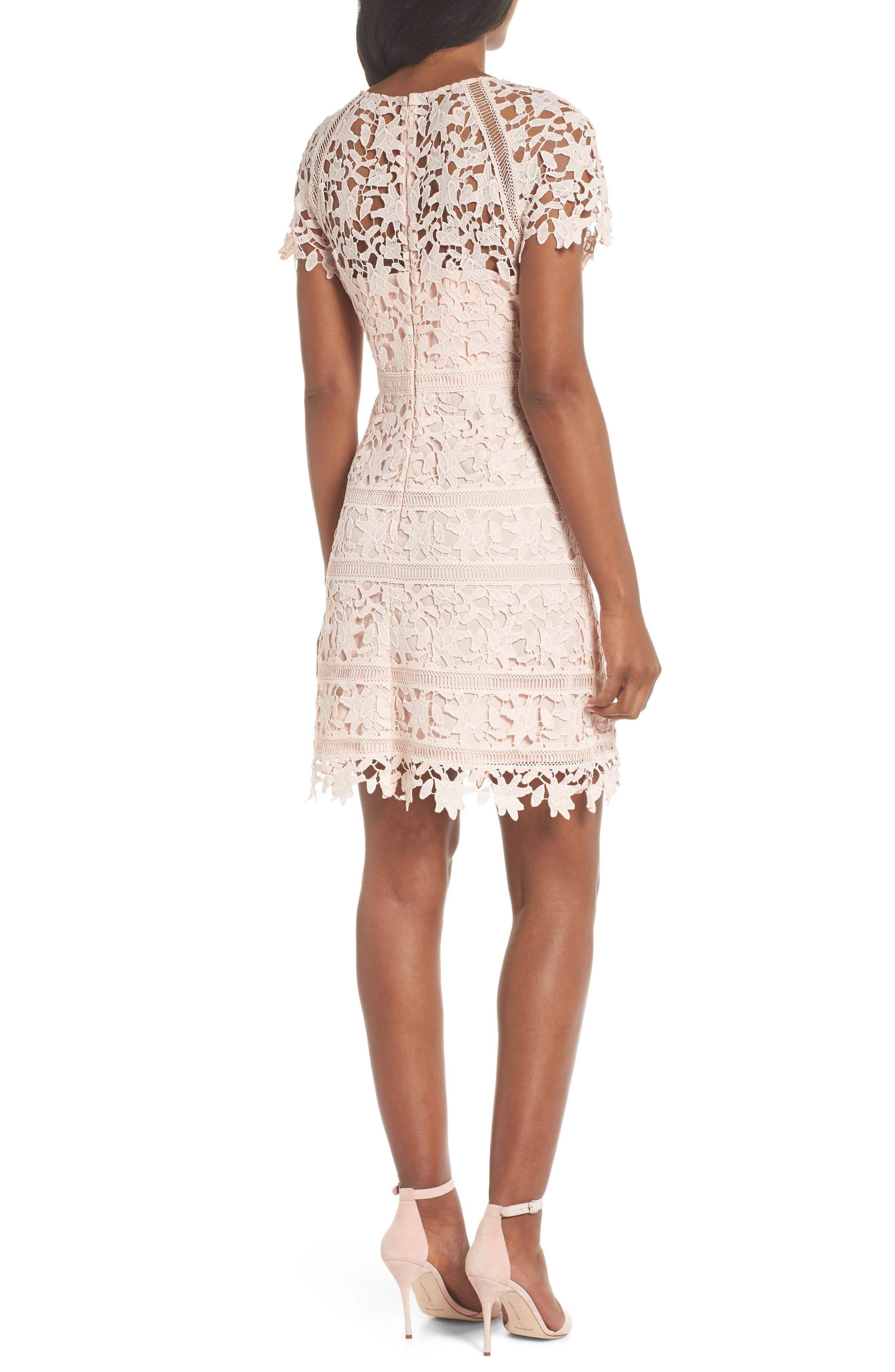 Crochet Overlay Dress,                             Alternate thumbnail 8, color,                             Blush