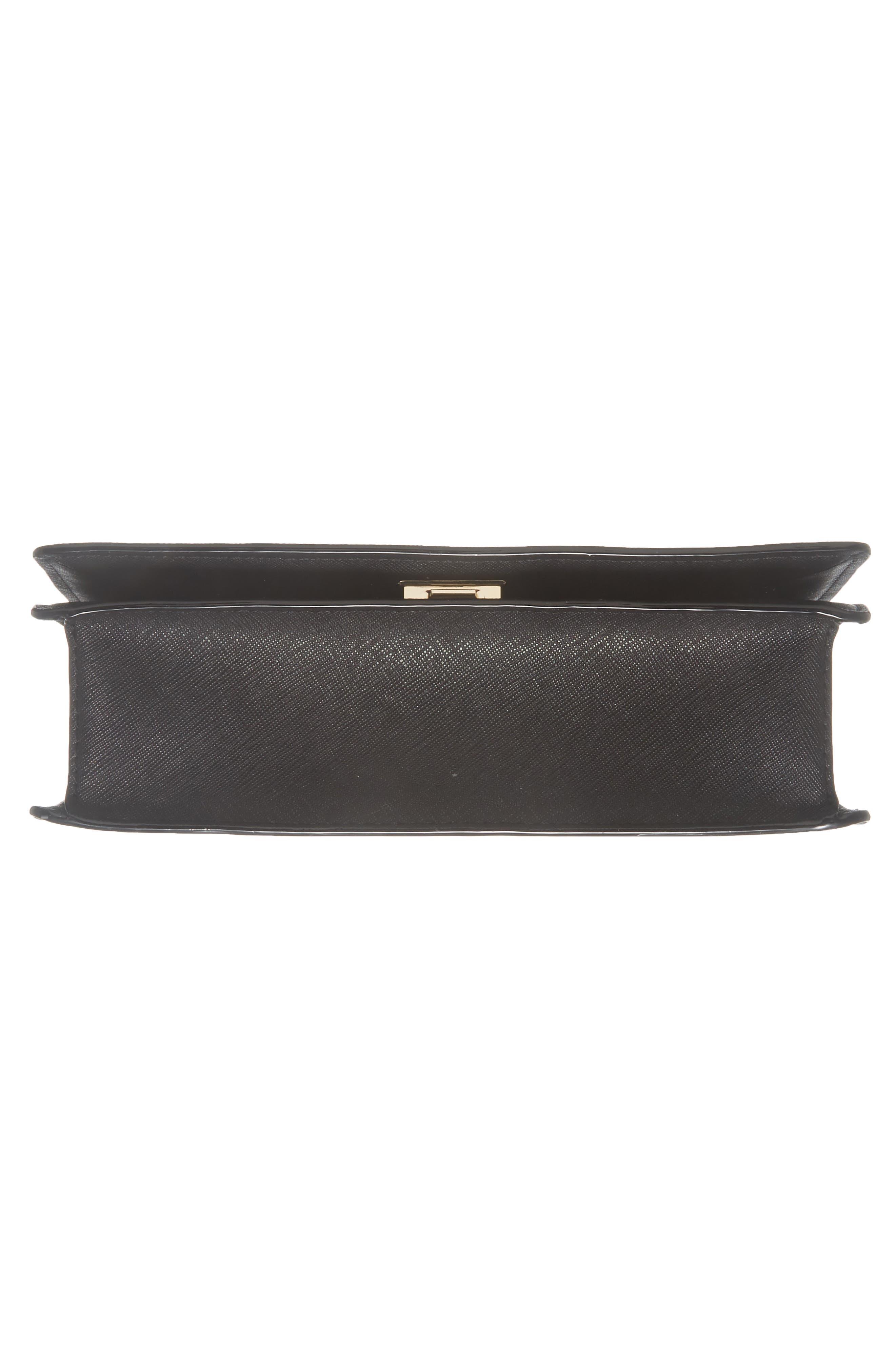 cameron street marci leather shoulder bag,                             Alternate thumbnail 3, color,                             Black