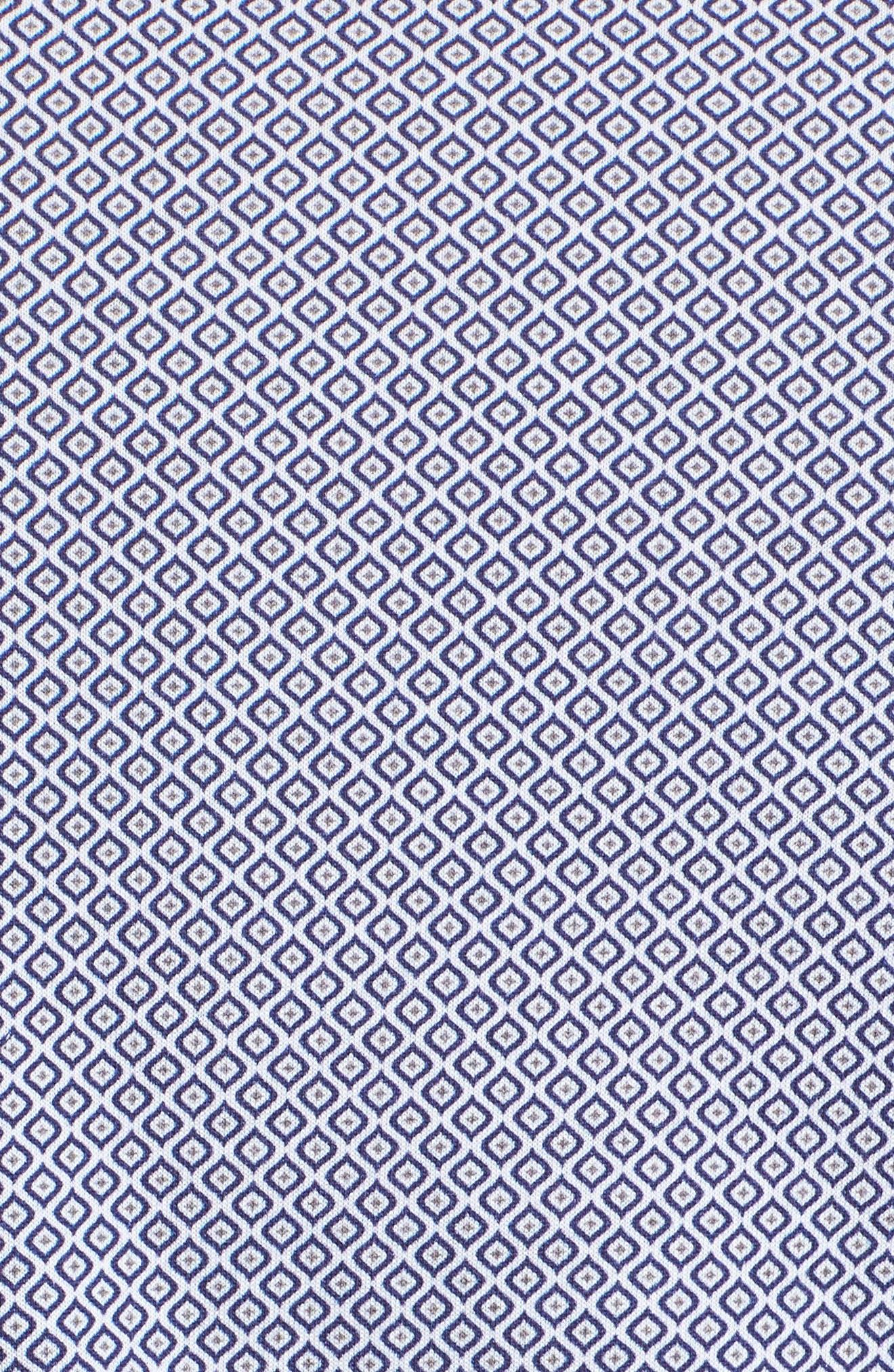 Diamond Print Knit Sport Shirt,                             Alternate thumbnail 5, color,                             White