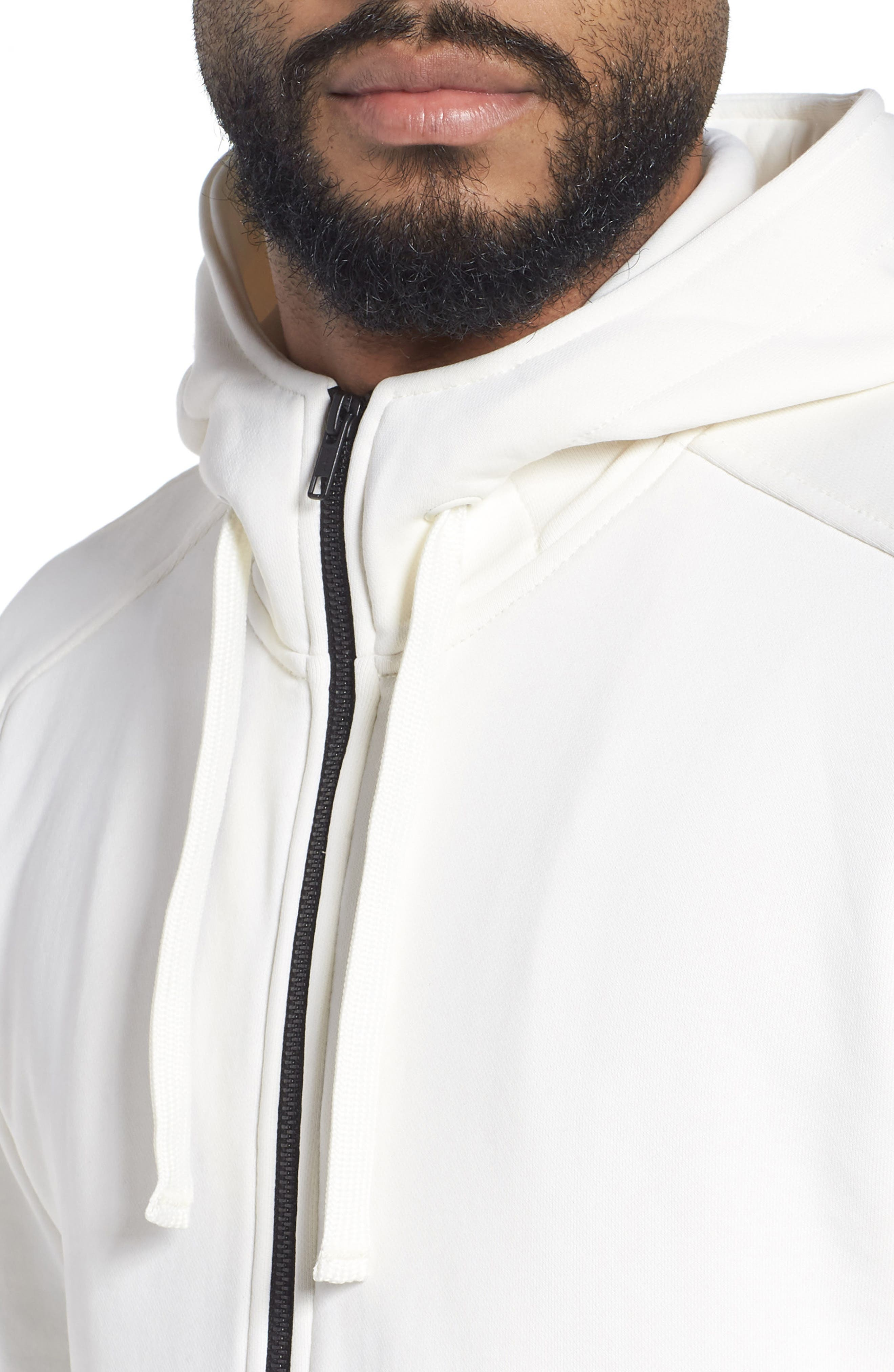 The Lux Full Zip Hoodie,                             Alternate thumbnail 4, color,                             Creme