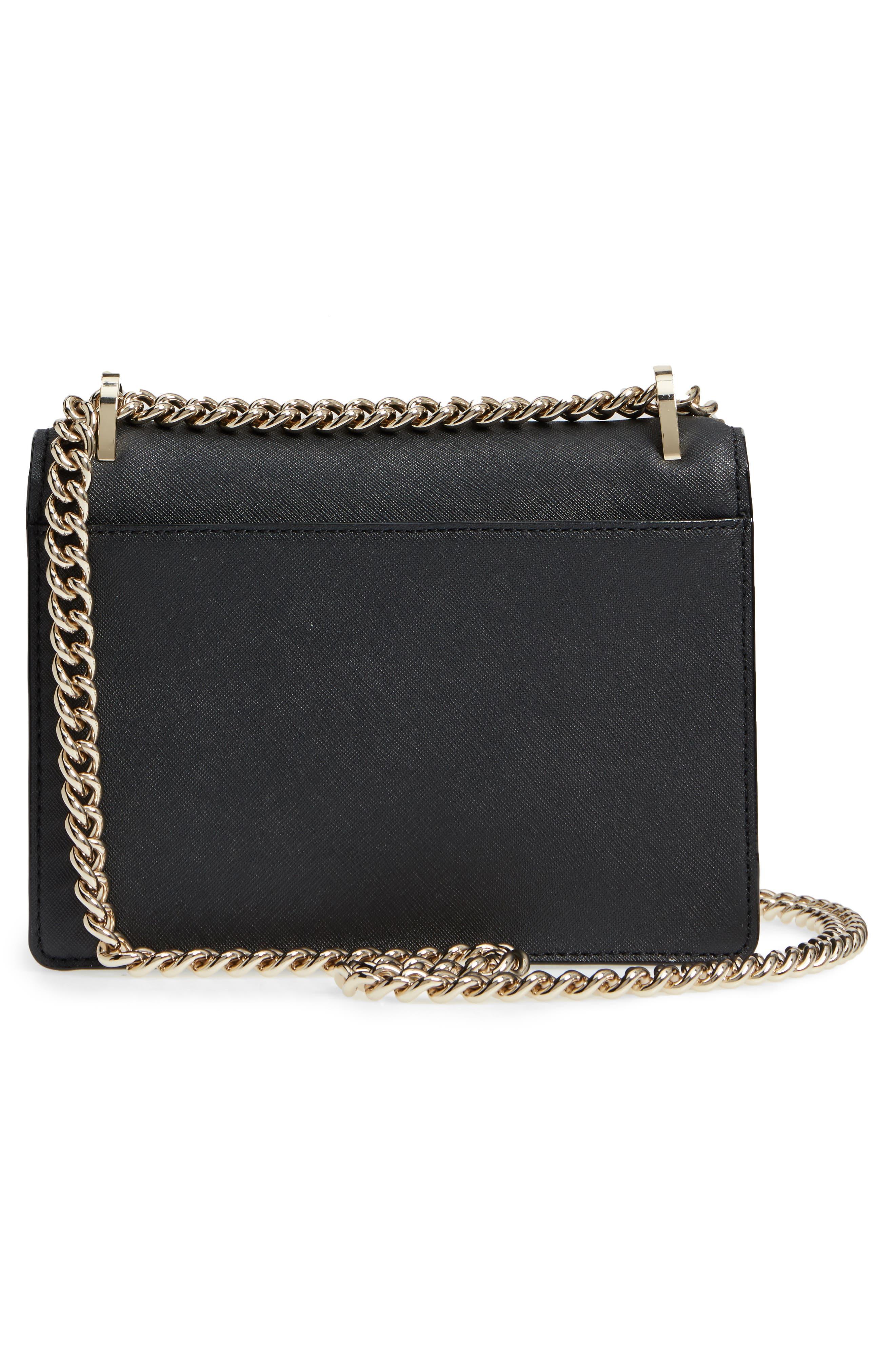 cameron street marci leather shoulder bag,                             Alternate thumbnail 5, color,                             Black