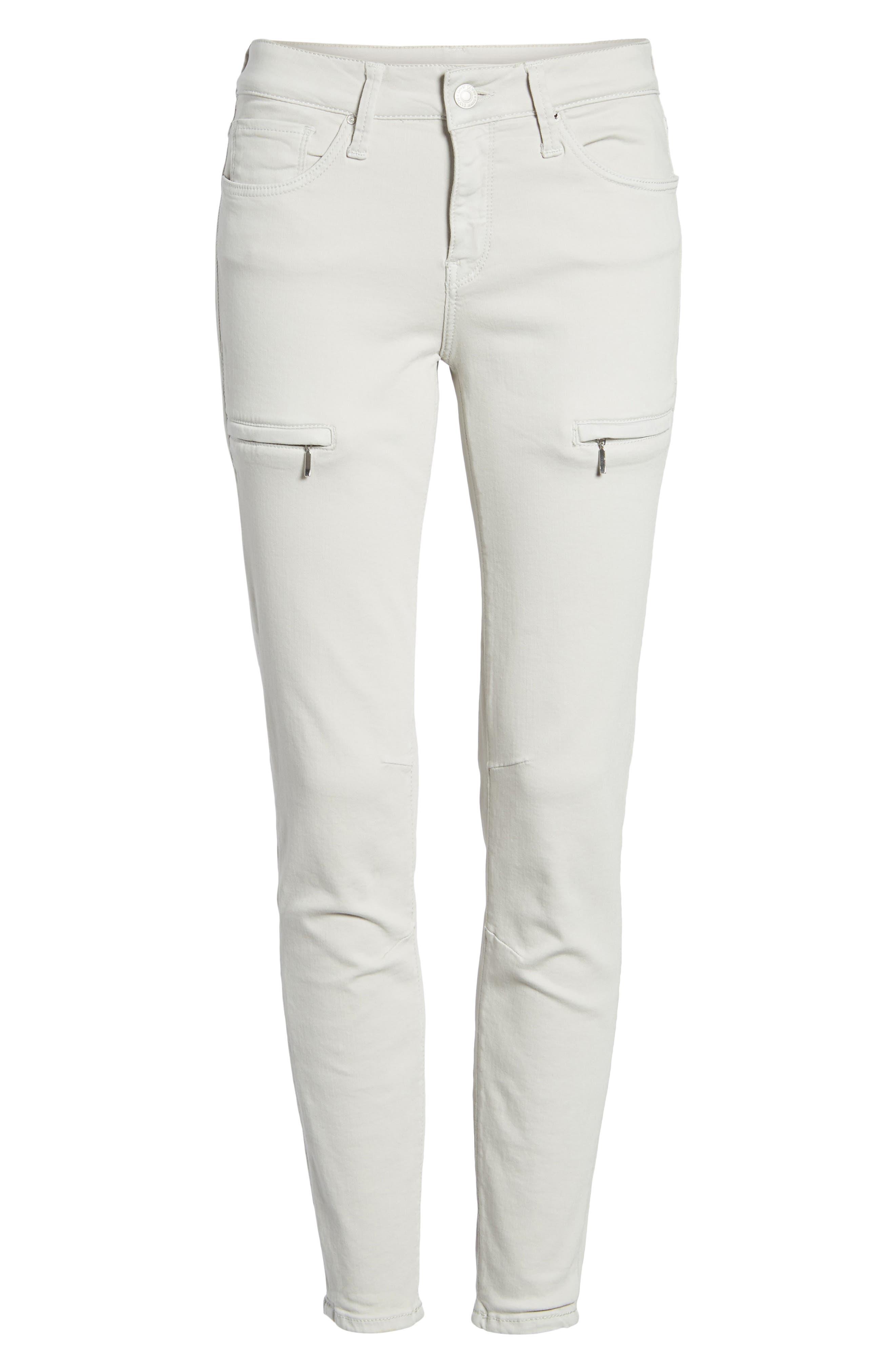Mavi Karlina Skinny Cargo Pants,                             Alternate thumbnail 7, color,                             Glacier Grey Twill