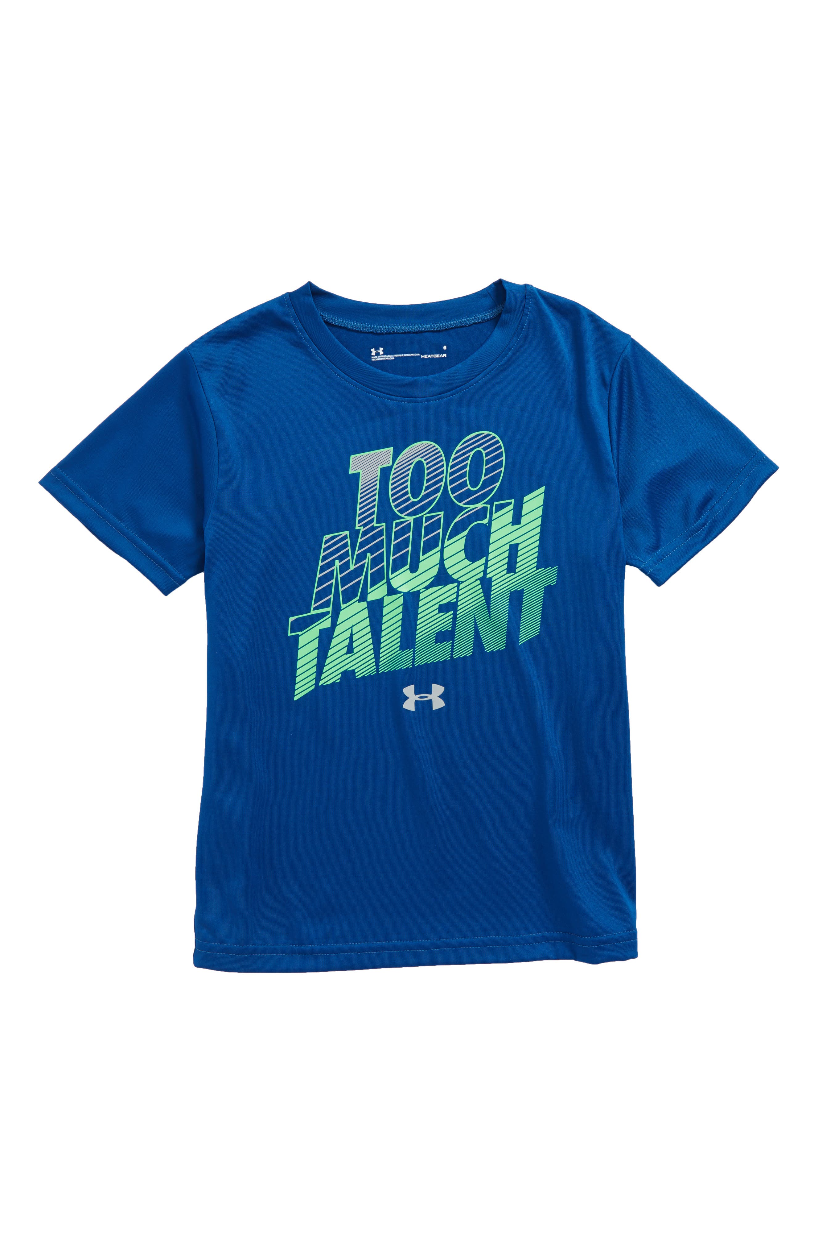 Too Much Talent HeatGear<sup>®</sup> T-Shirt,                             Main thumbnail 1, color,                             Moroccan Blue