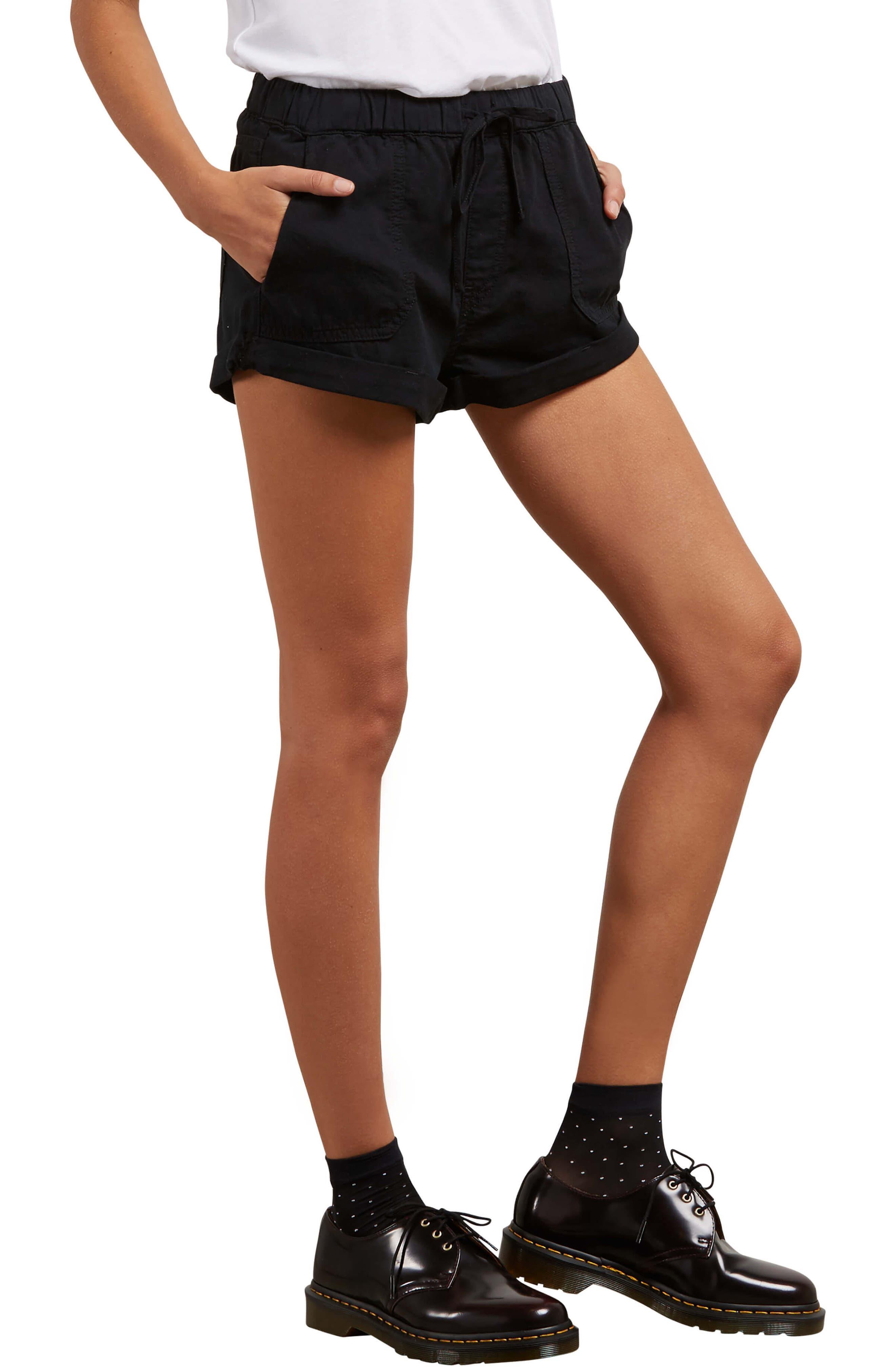 Sunday Strut Shorts,                             Alternate thumbnail 4, color,                             Black