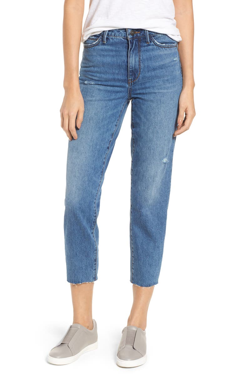 The Mary Jane Raw Edge Crop Jeans