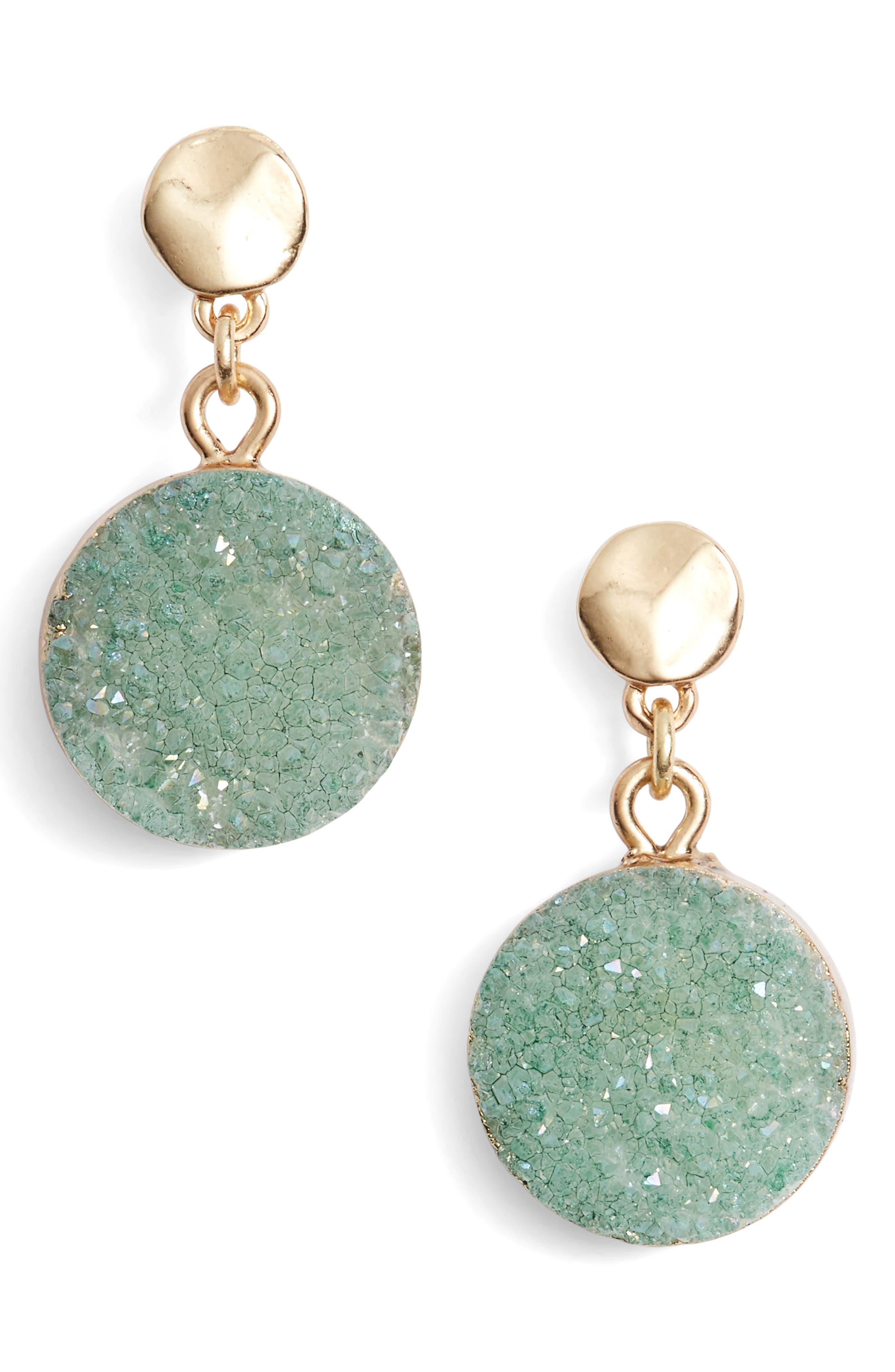 Treasure & Bond Drusy Post Drop Earrings
