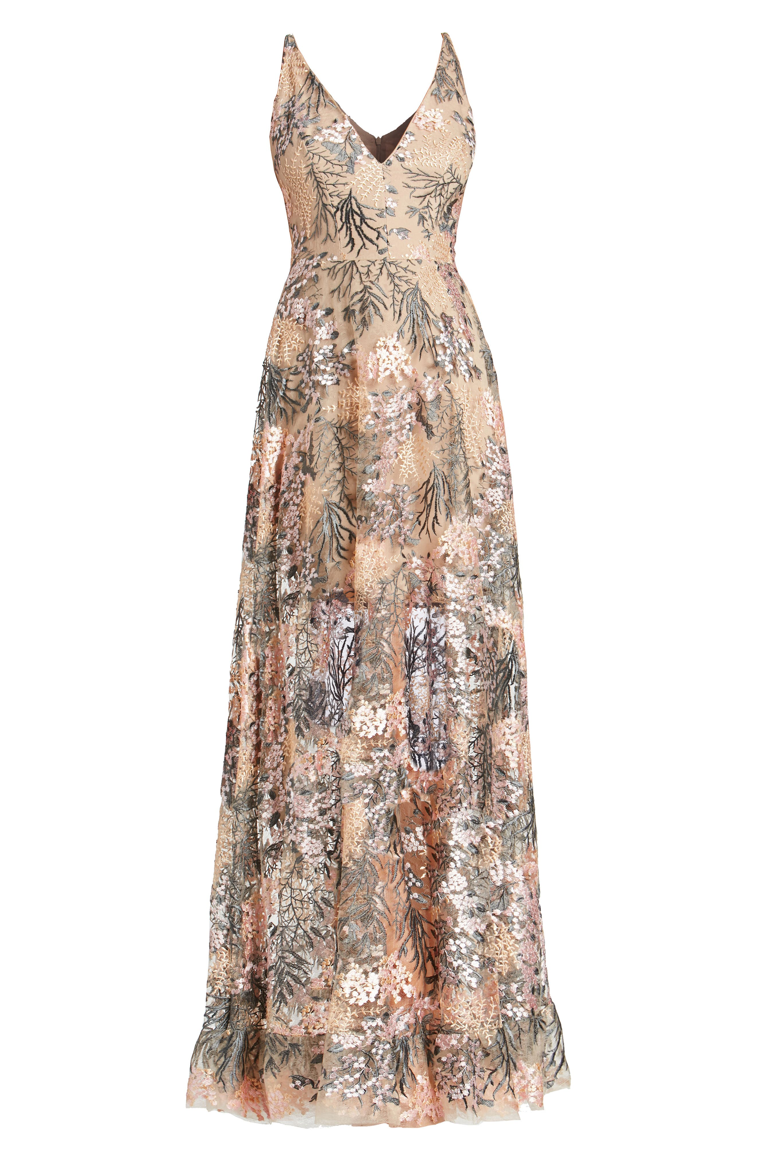 Alternate Image 4  - Dress the Population Sidney Embroidered Fit & Flare Gown