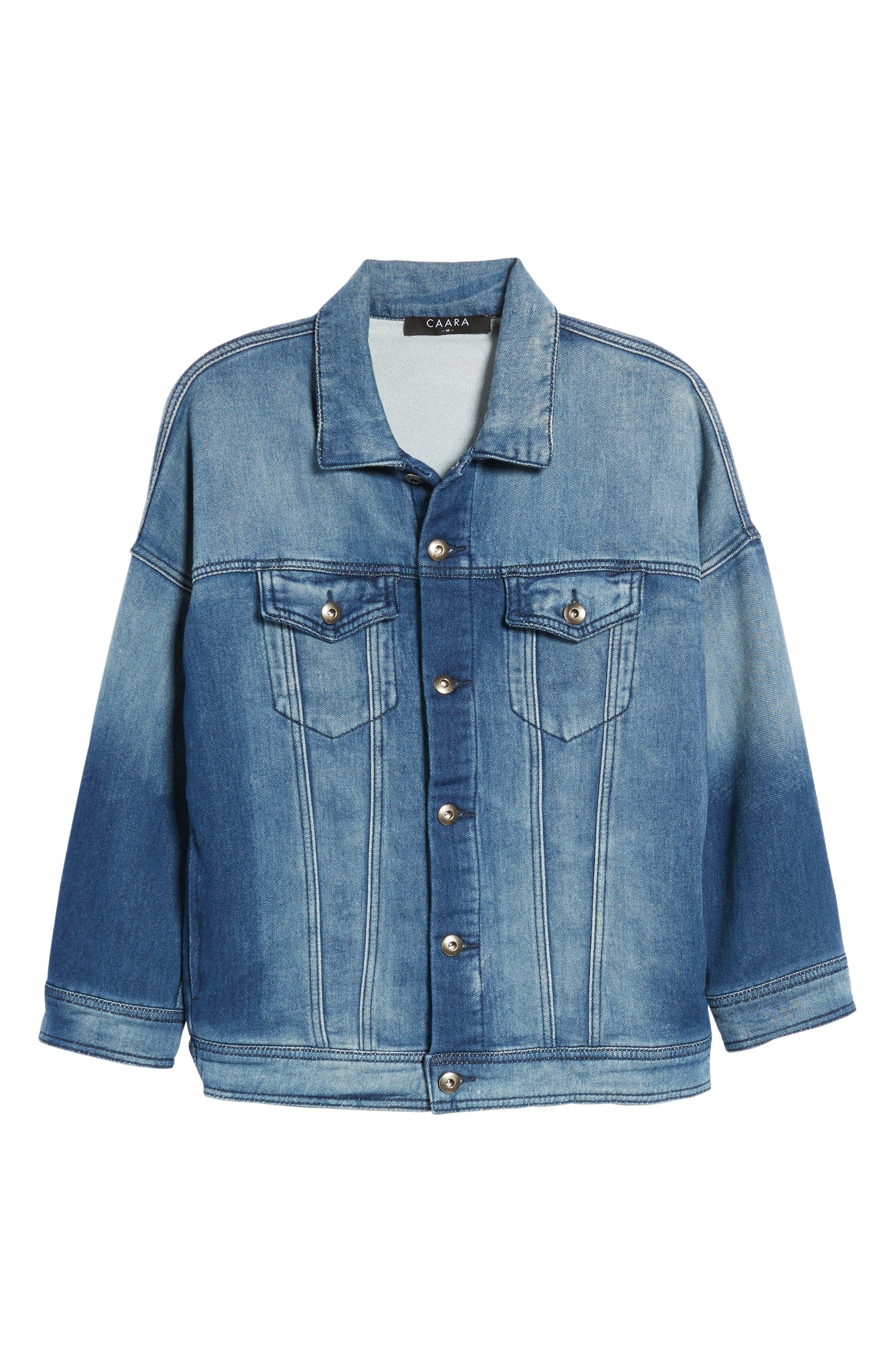 Denim Jacket,                             Alternate thumbnail 6, color,                             Washed Blue