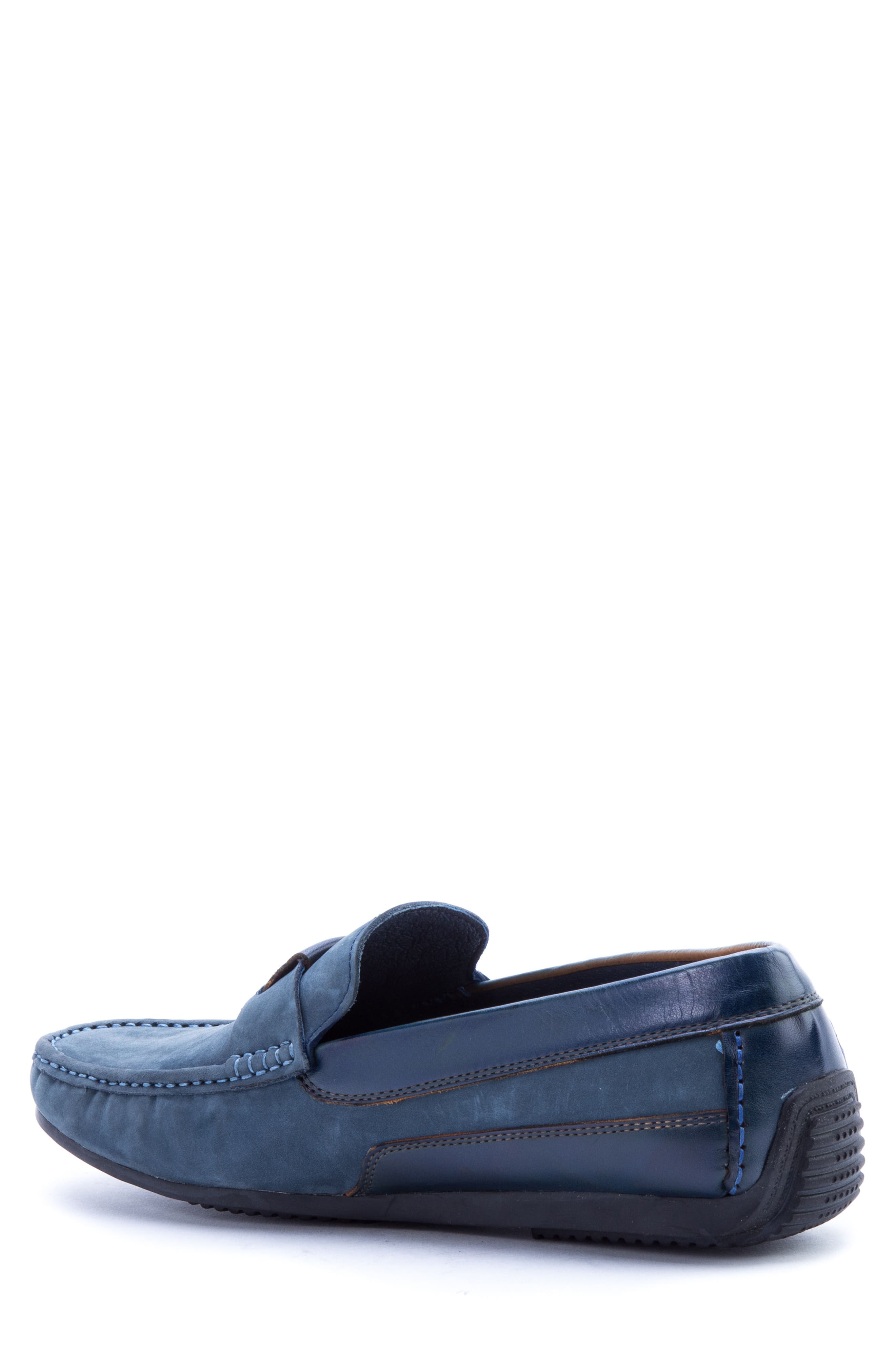 Seurat Driving Loafer,                             Alternate thumbnail 2, color,                             Blue Suede/ Leather