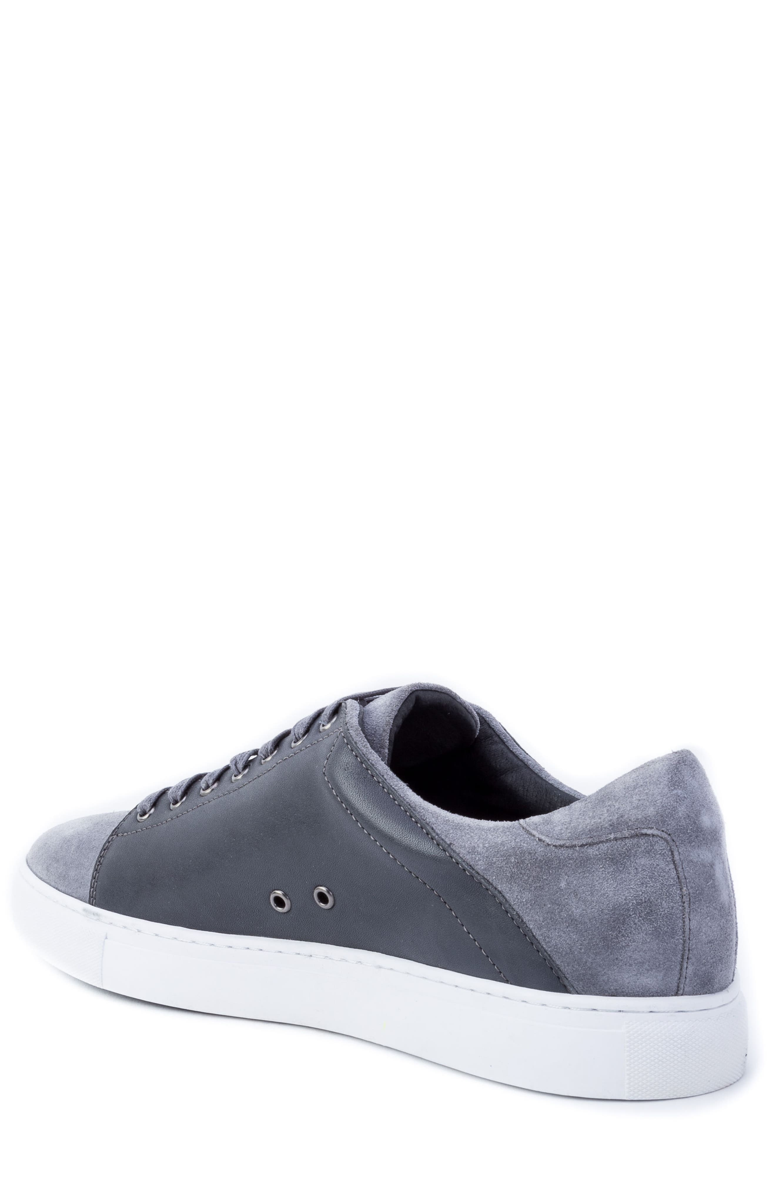 Record Low Top Sneaker,                             Alternate thumbnail 2, color,                             Grey Suede/ Leather