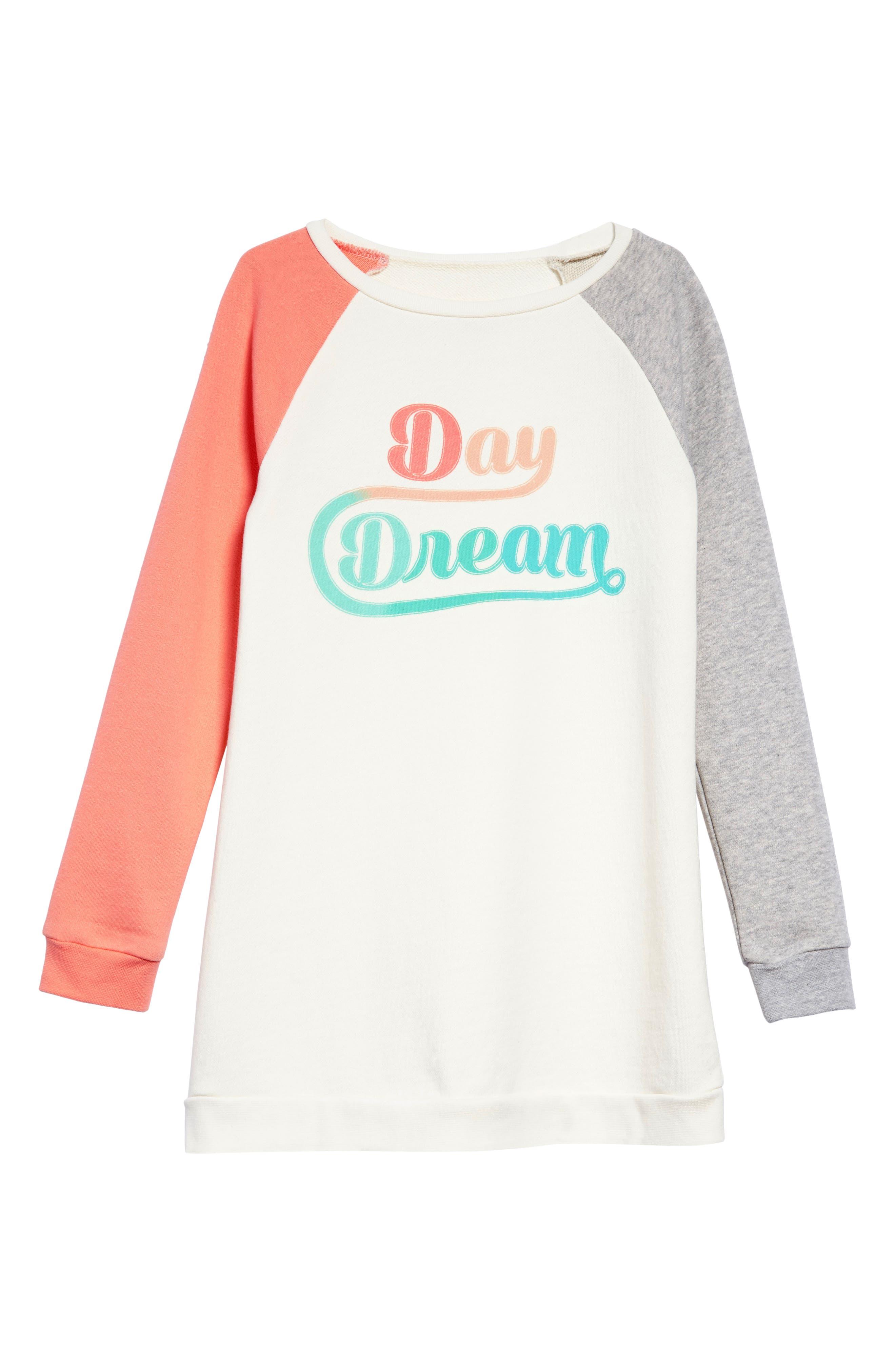 Sweatshirt Dress,                         Main,                         color, Ivory Egret Daydream