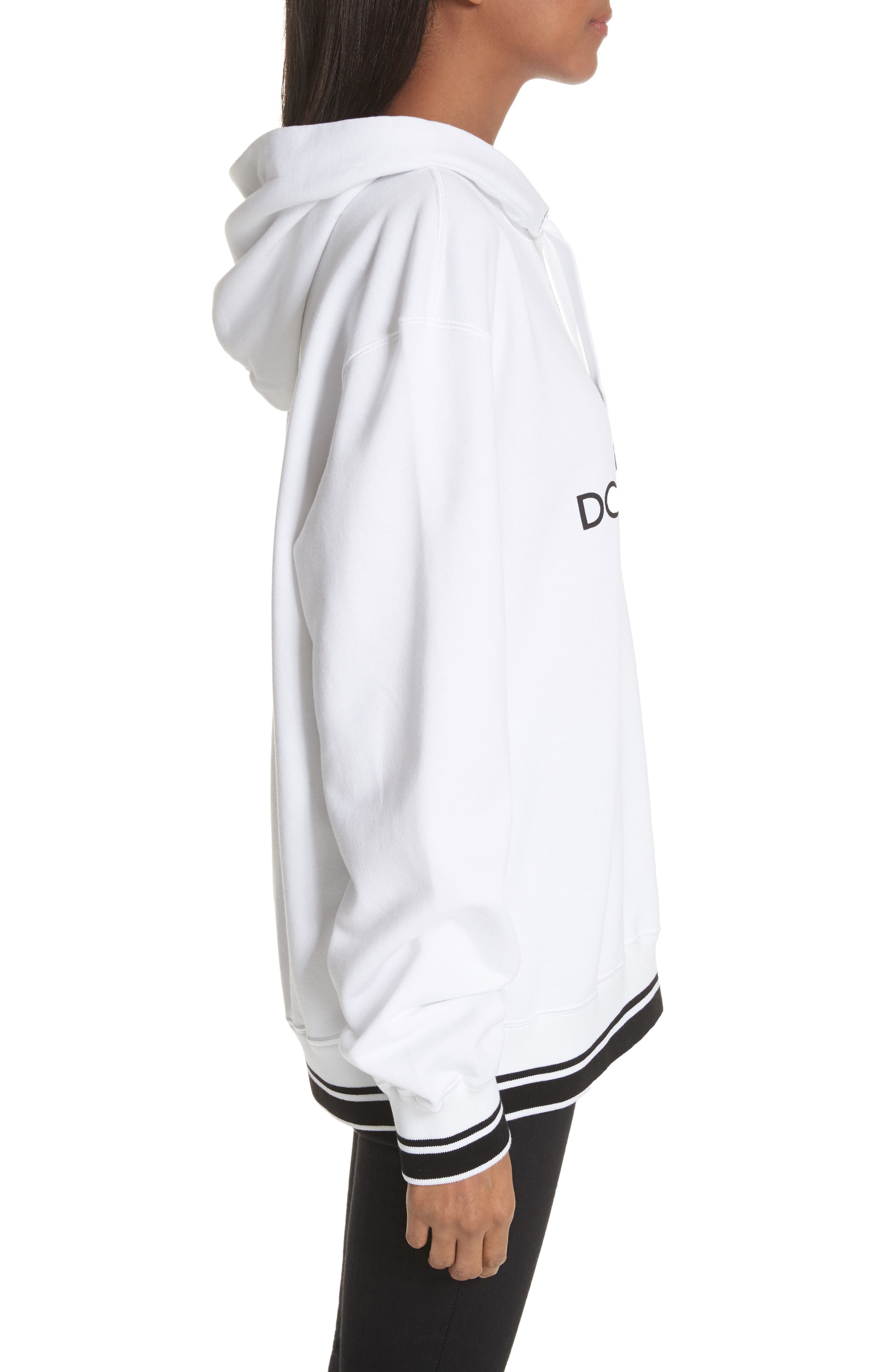 Logo Hooded Sweatshirt,                             Alternate thumbnail 3, color,                             White