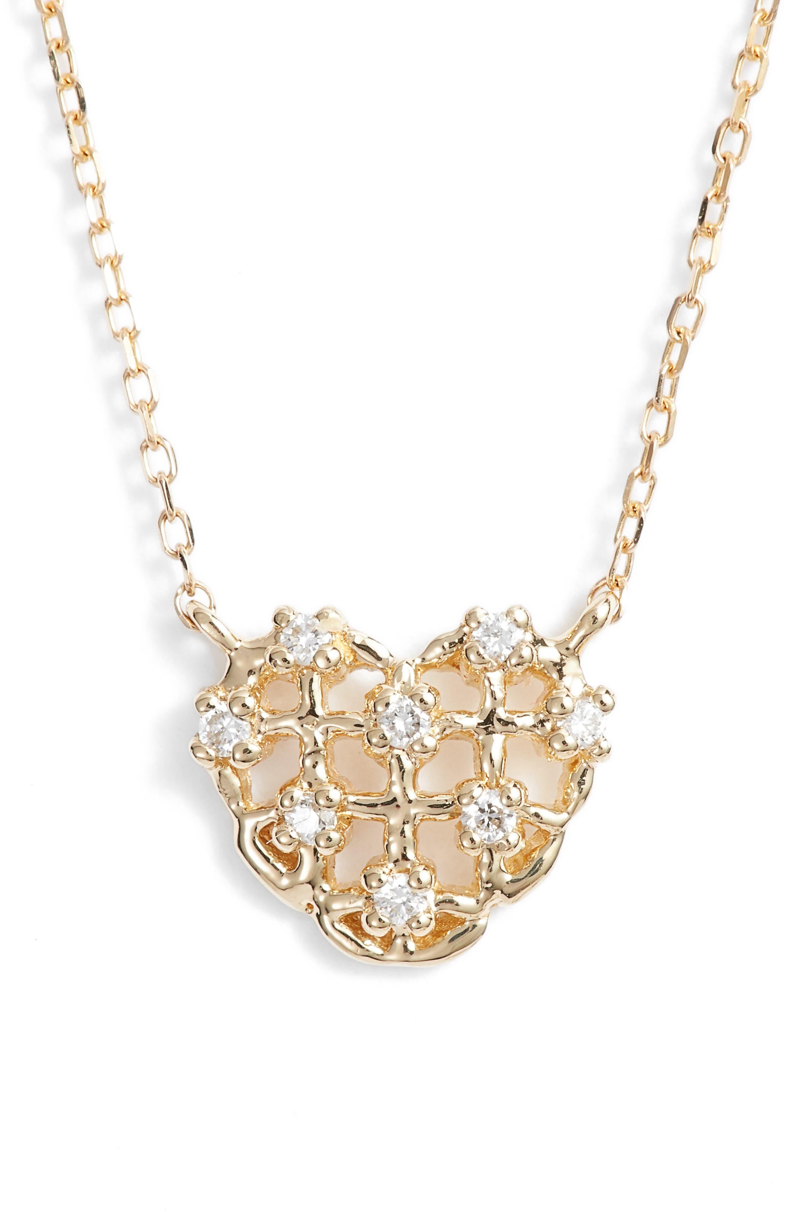 Dana Rebecca Designs Jacquie C Diamond Heart Pendant Necklace