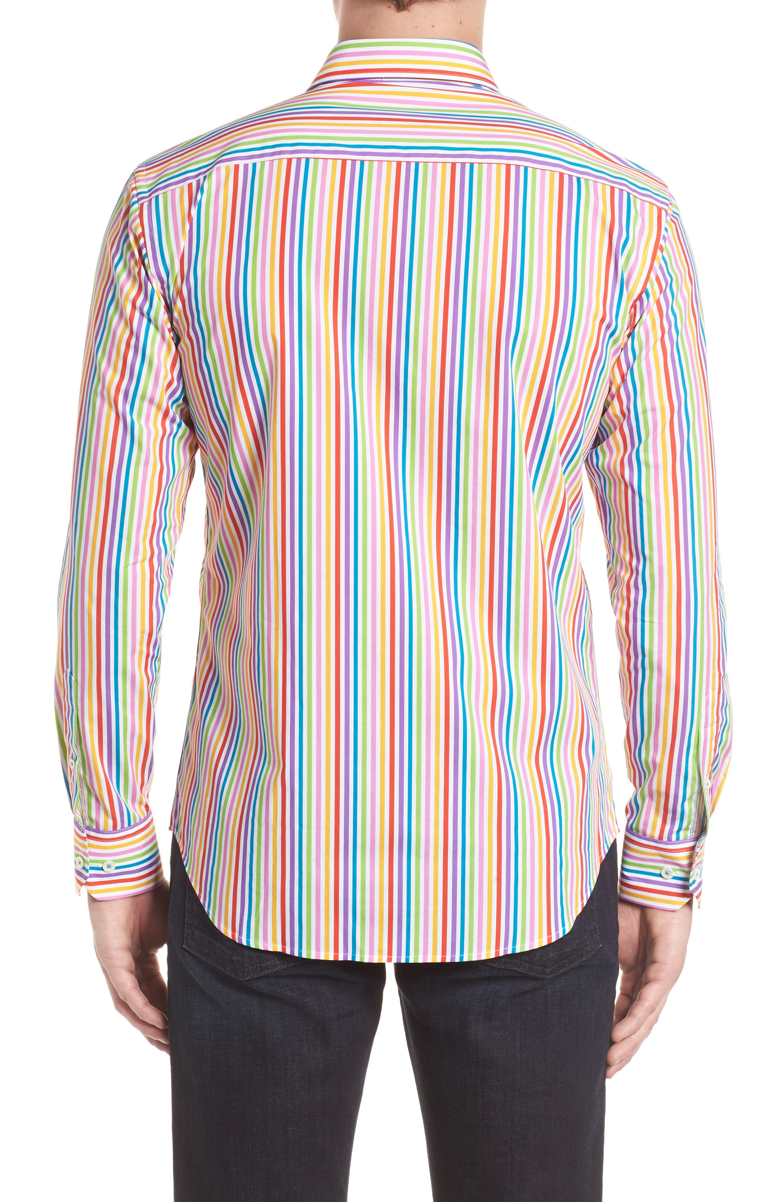 Classic Fit Woven Sport Shirt,                             Alternate thumbnail 2, color,                             Candy