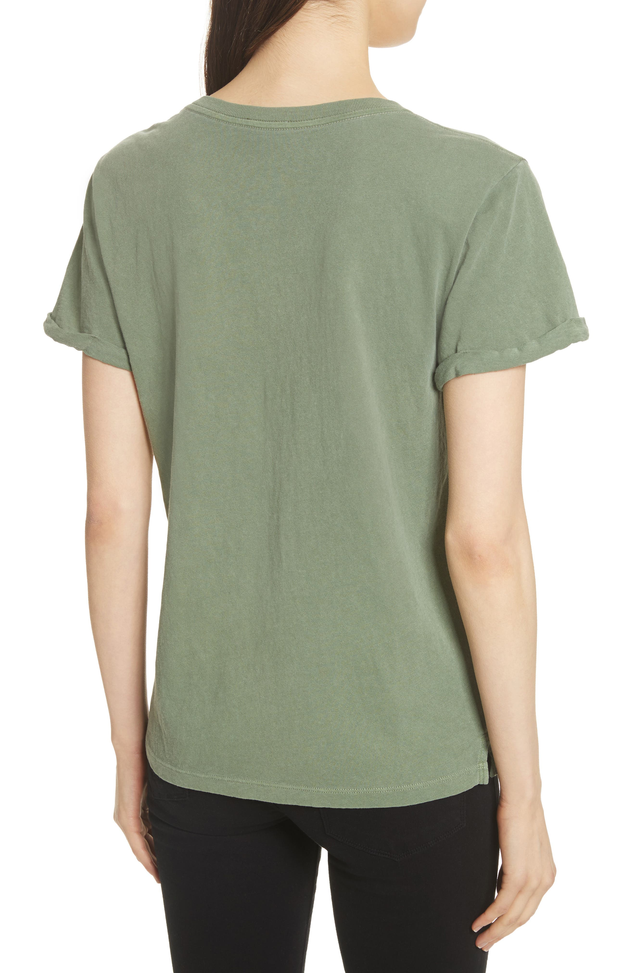 V-Neck Tee,                             Alternate thumbnail 3, color,                             Faded Army